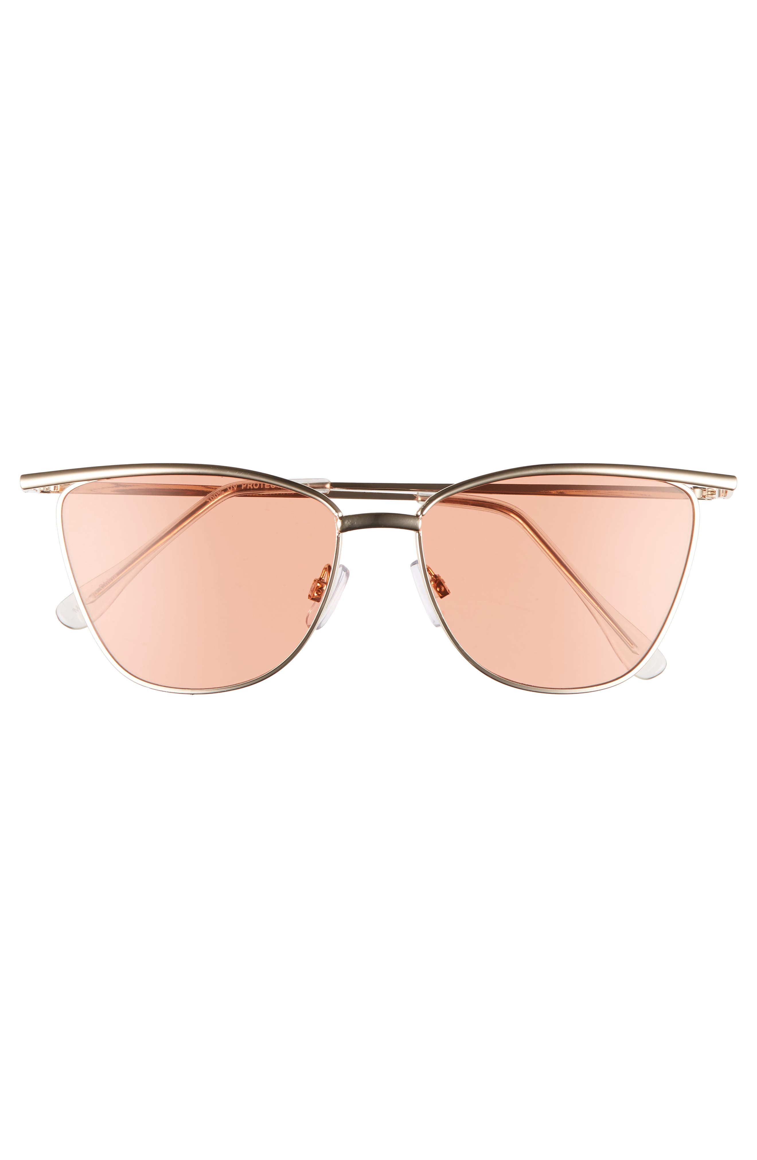 55mm Winged Cat Eye Sunglasses,                             Alternate thumbnail 3, color,                             710