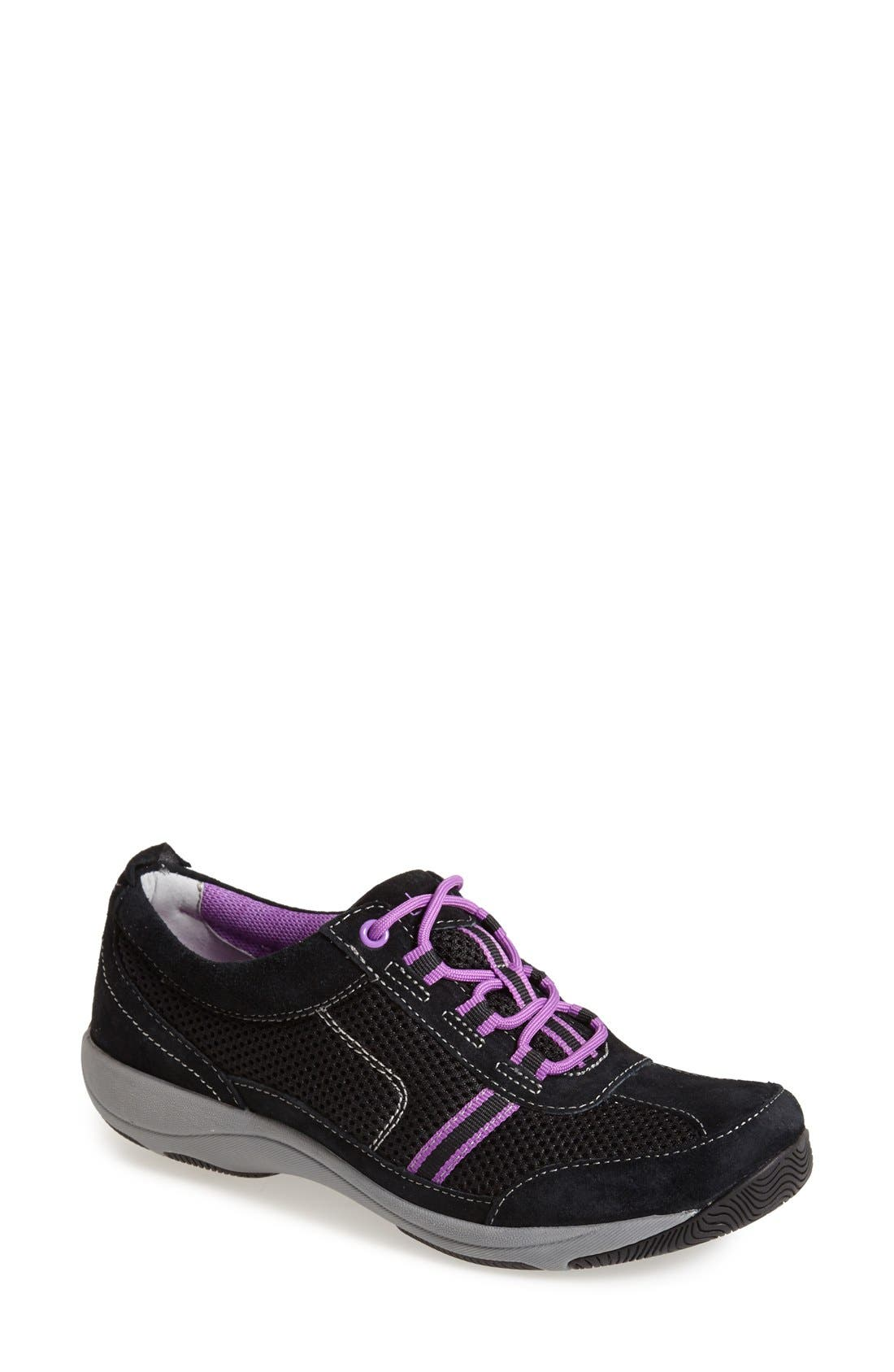 'Helen' Suede & Mesh Sneaker,                             Main thumbnail 2, color,