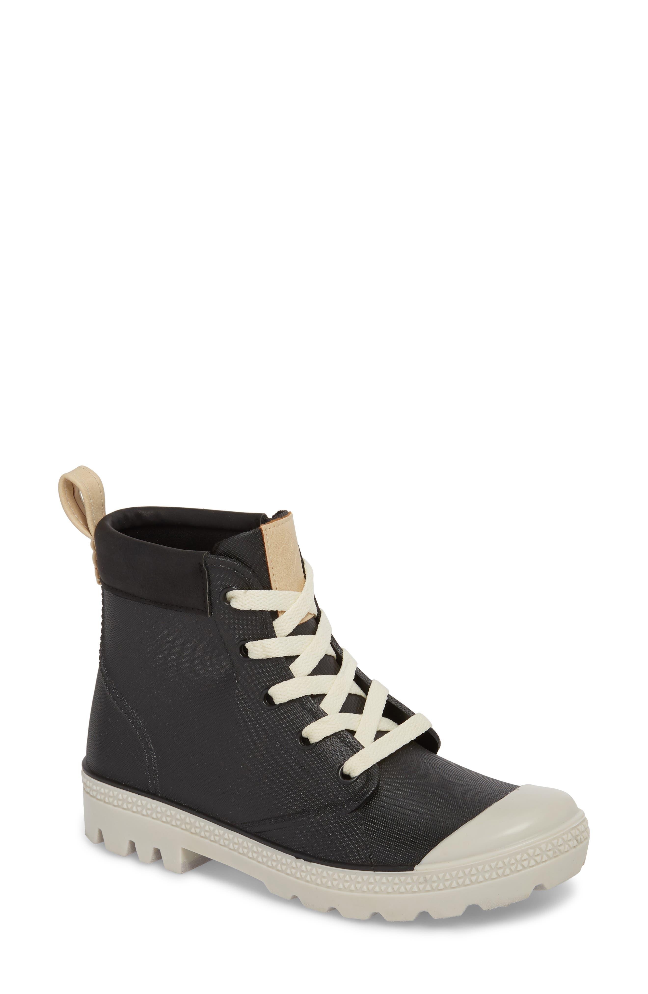 Dav Melrose Waterproof Sneaker Boot, Black