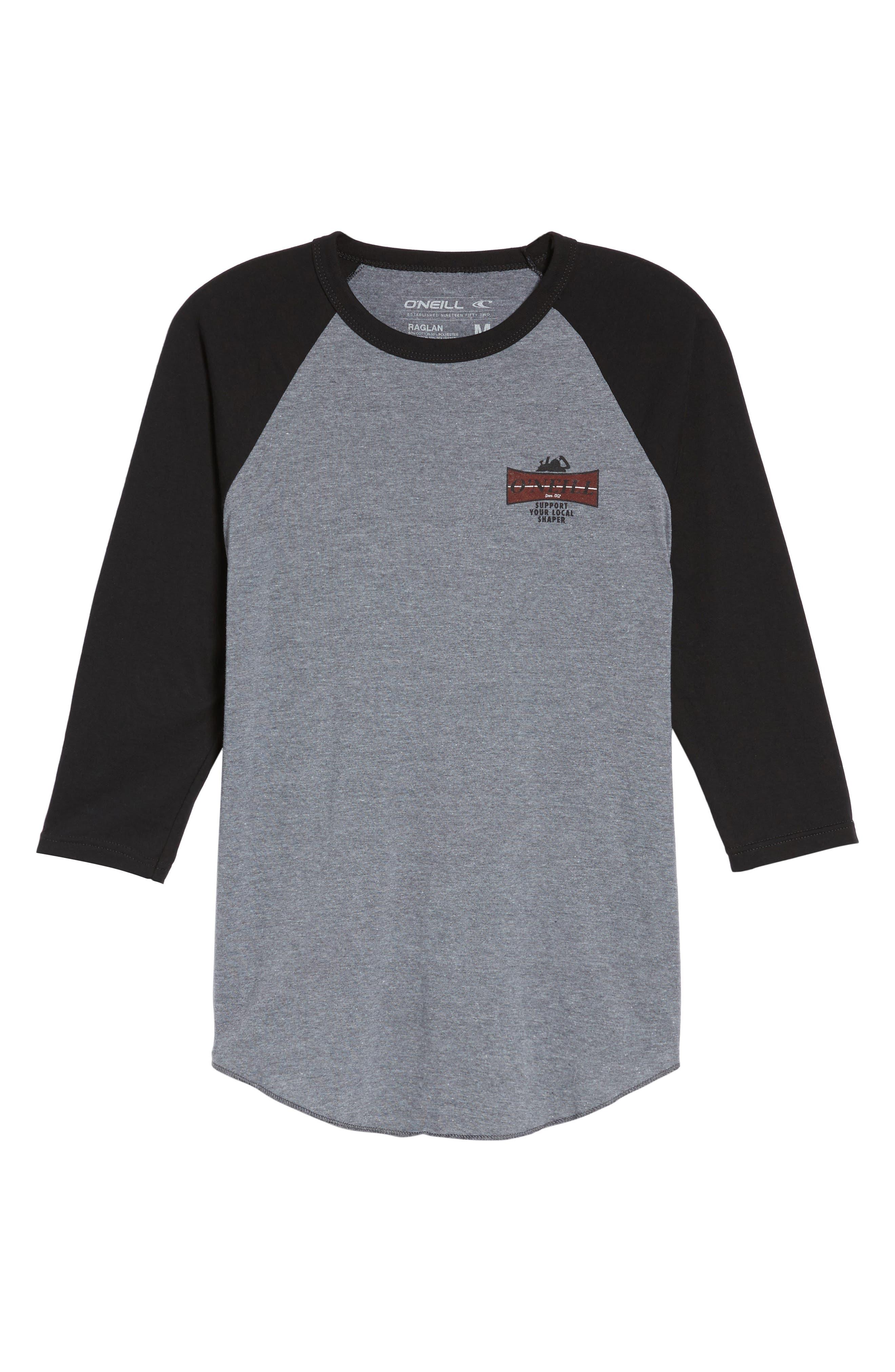 Planer Raglan T-Shirt,                             Alternate thumbnail 6, color,                             020
