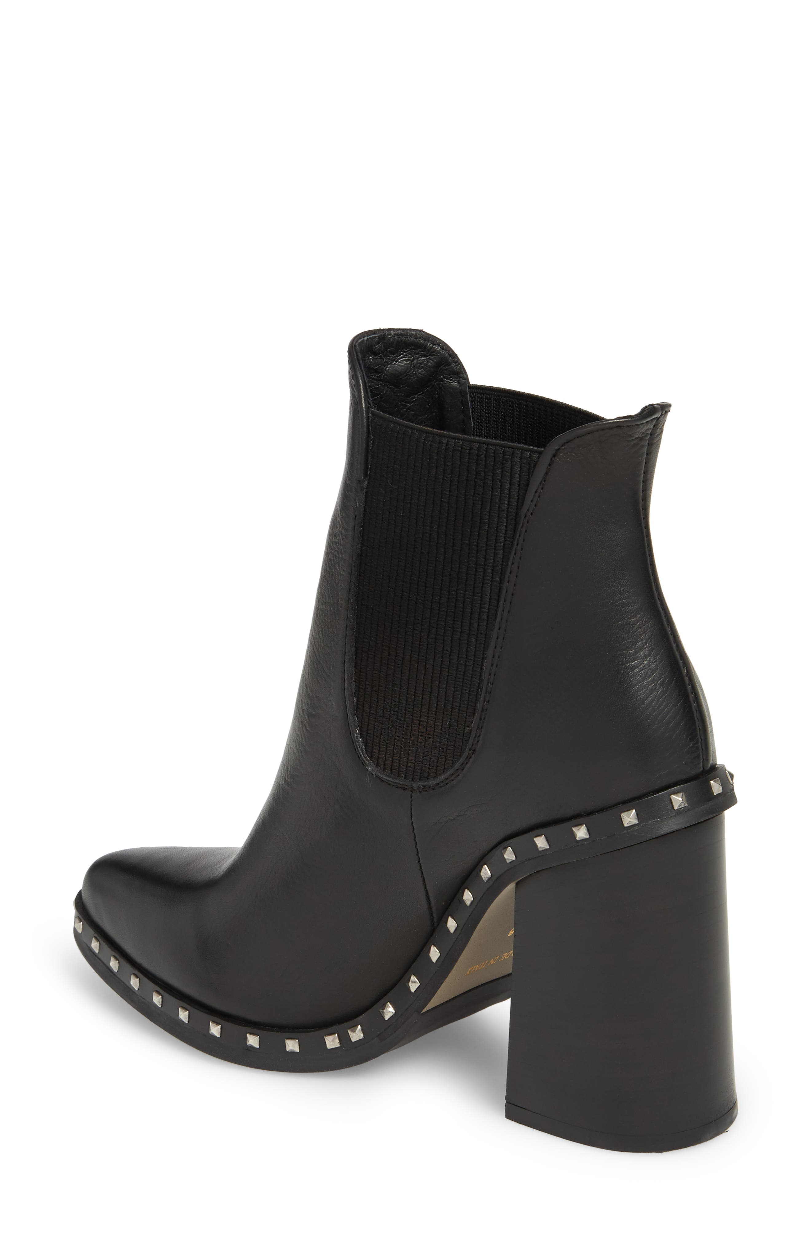 Scandal Studded Chelsea Bootie,                             Alternate thumbnail 2, color,                             001