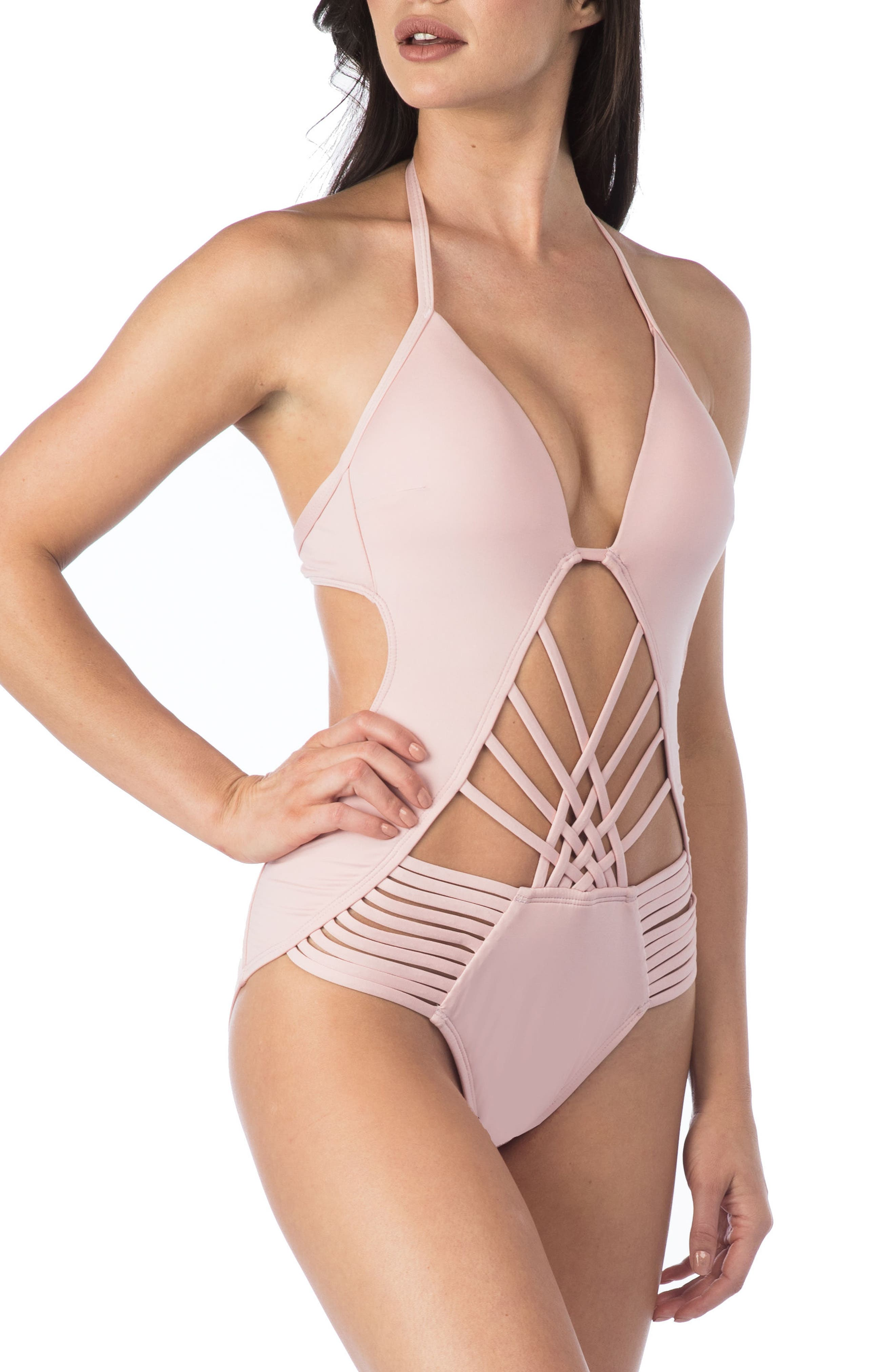 Push-Up One-Piece Swimsuit,                             Main thumbnail 2, color,