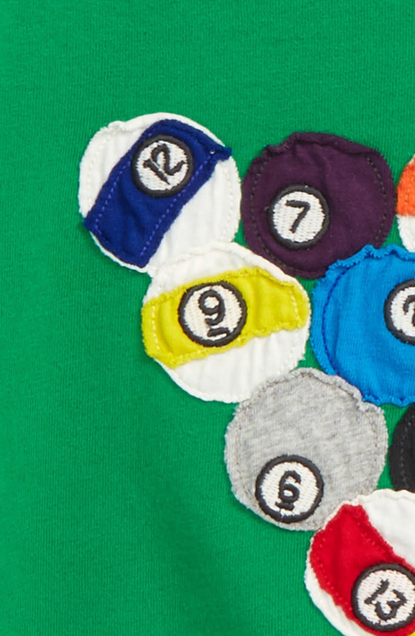 Sporty Appliqué T-Shirt,                             Alternate thumbnail 2, color,                             334