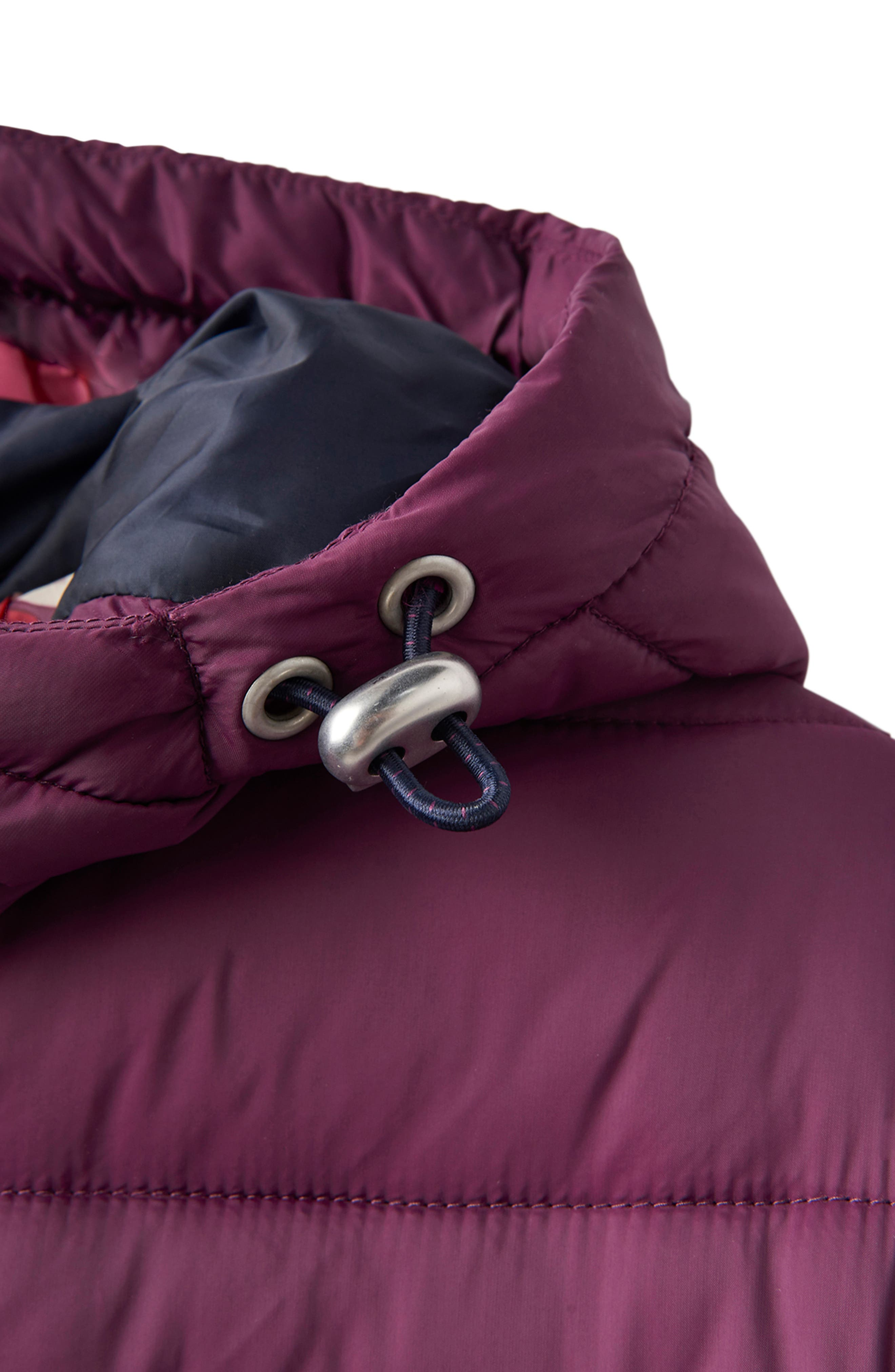 JOULES,                             Heathcote Two-Tone Puffer Jacket,                             Alternate thumbnail 11, color,                             BURGUNDY