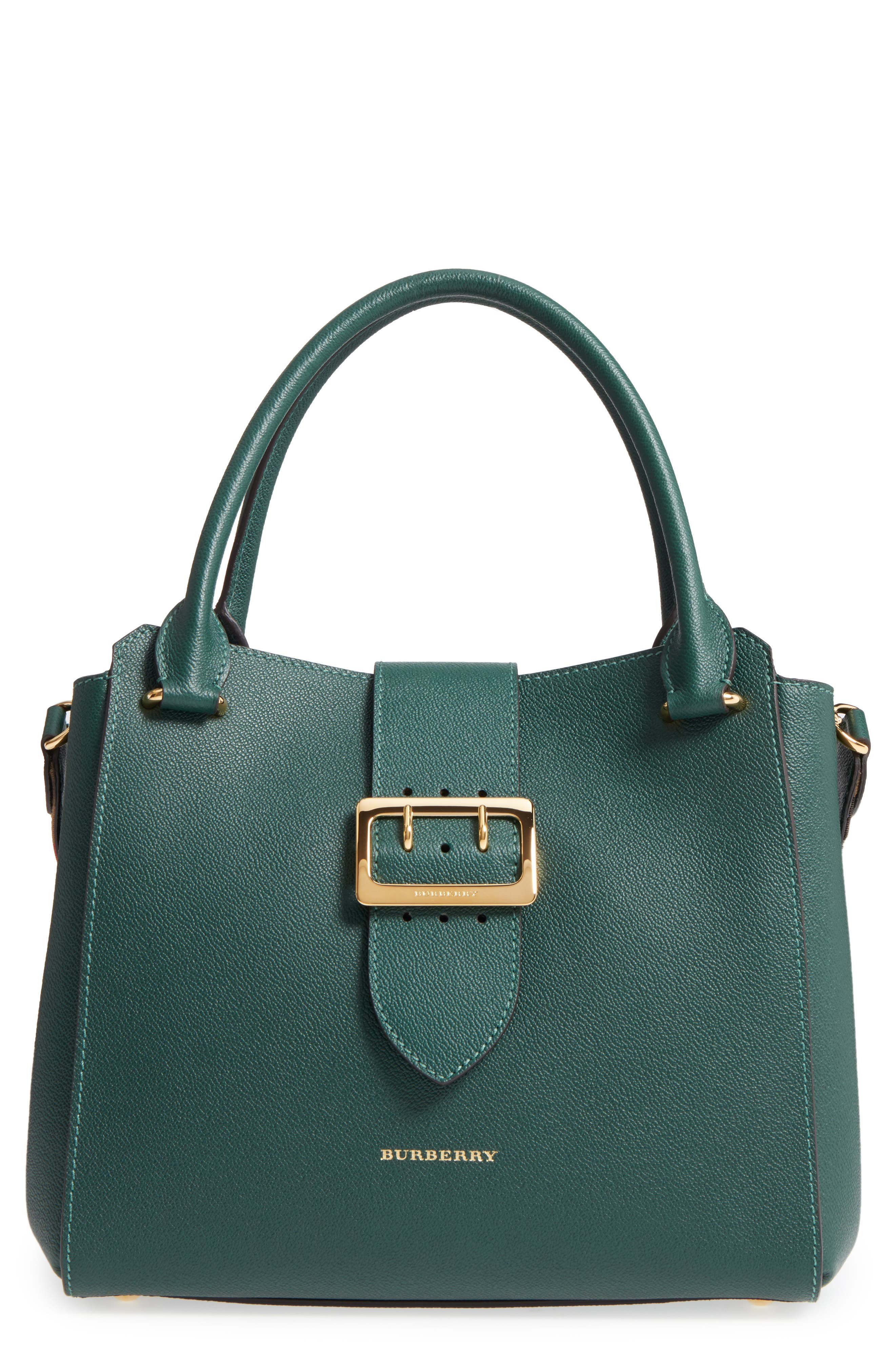 Medium Calfskin Leather Buckle Tote,                             Main thumbnail 1, color,                             310