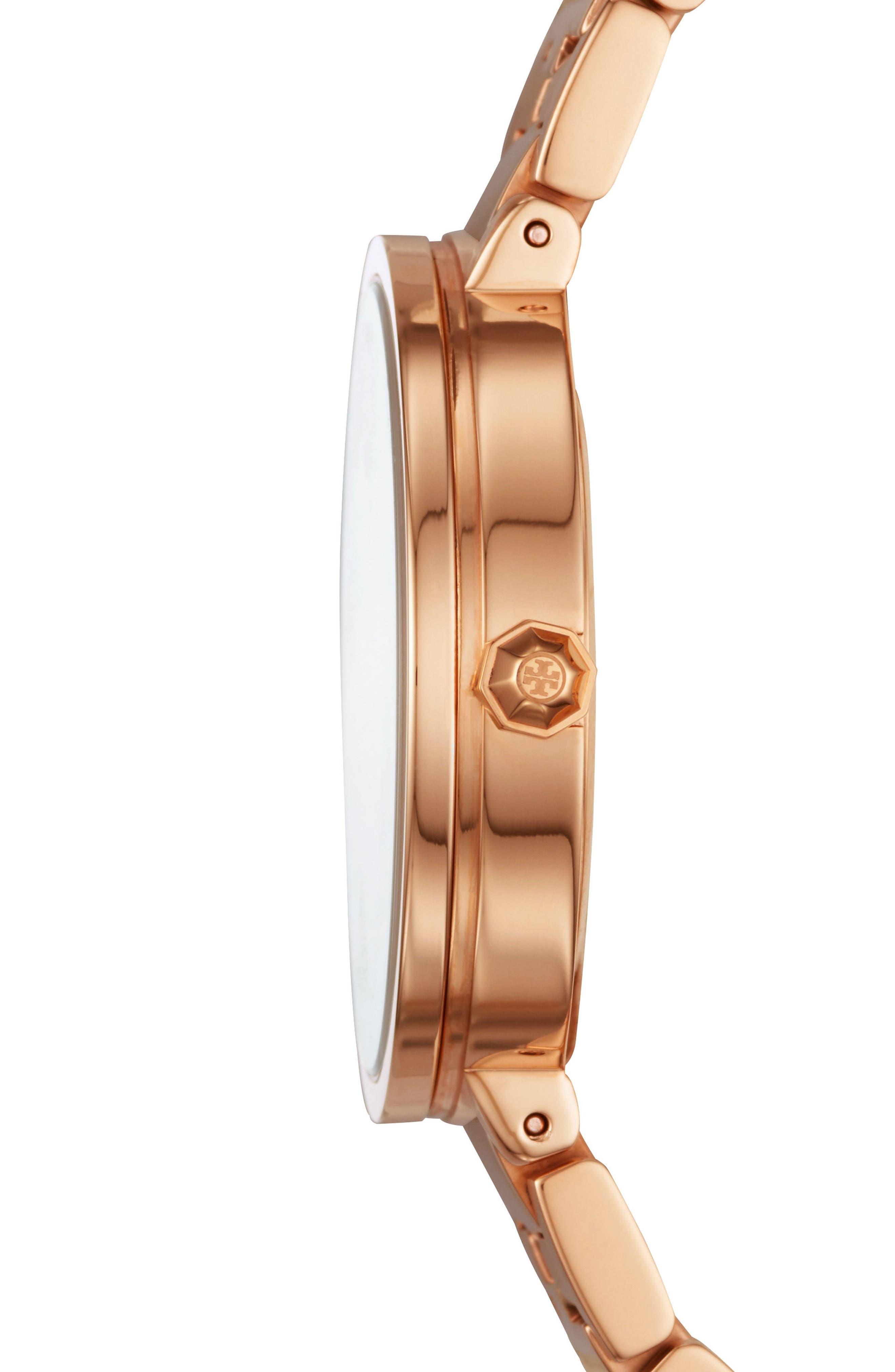 Reva Logo Dial Bracelet Watch, 36mm,                             Alternate thumbnail 2, color,                             ROSE GOLD/ CREAM/ ROSE GOLD
