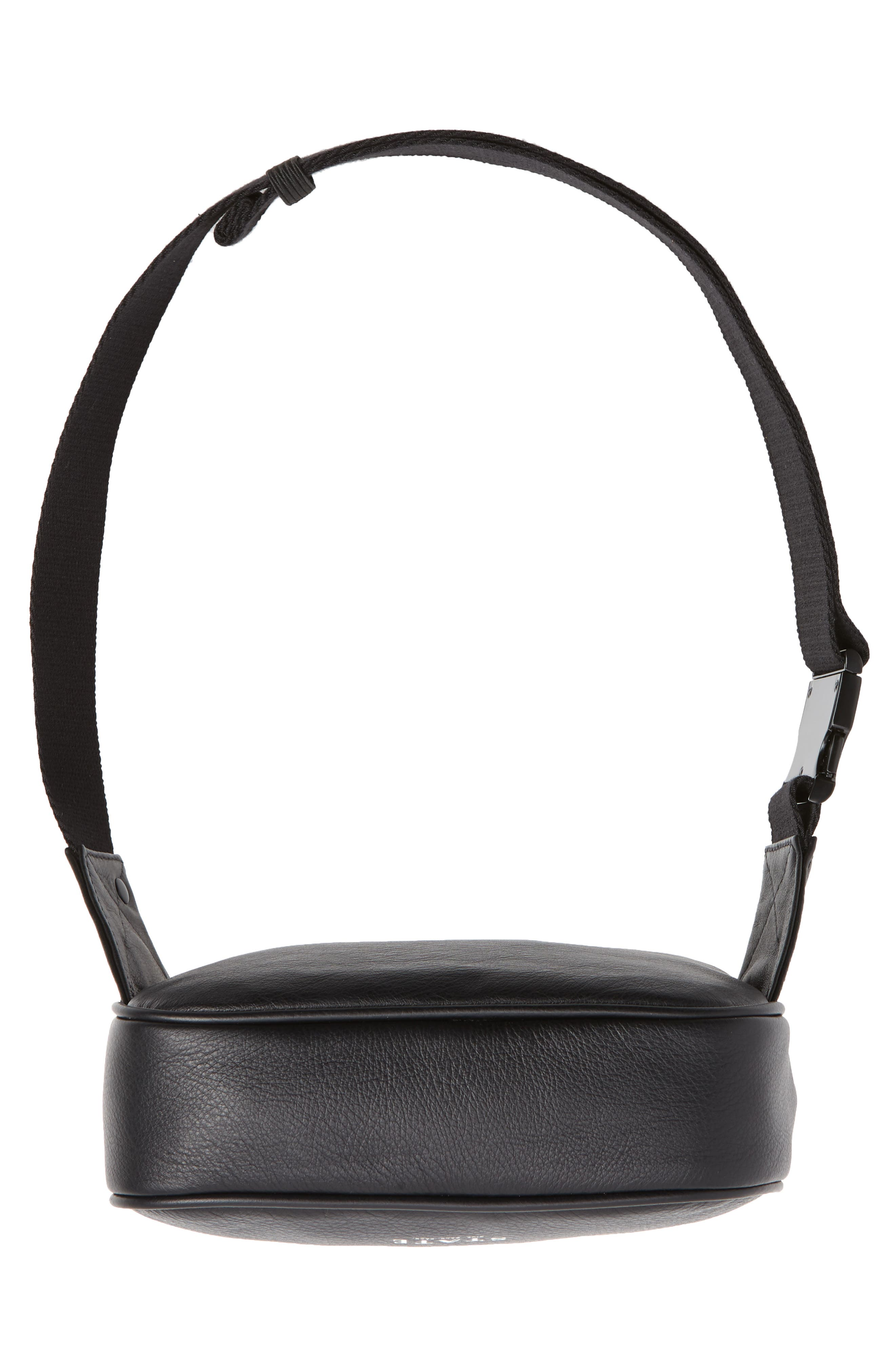 Homecrest Crosby Leather Belt Bag,                             Alternate thumbnail 7, color,                             BLACK