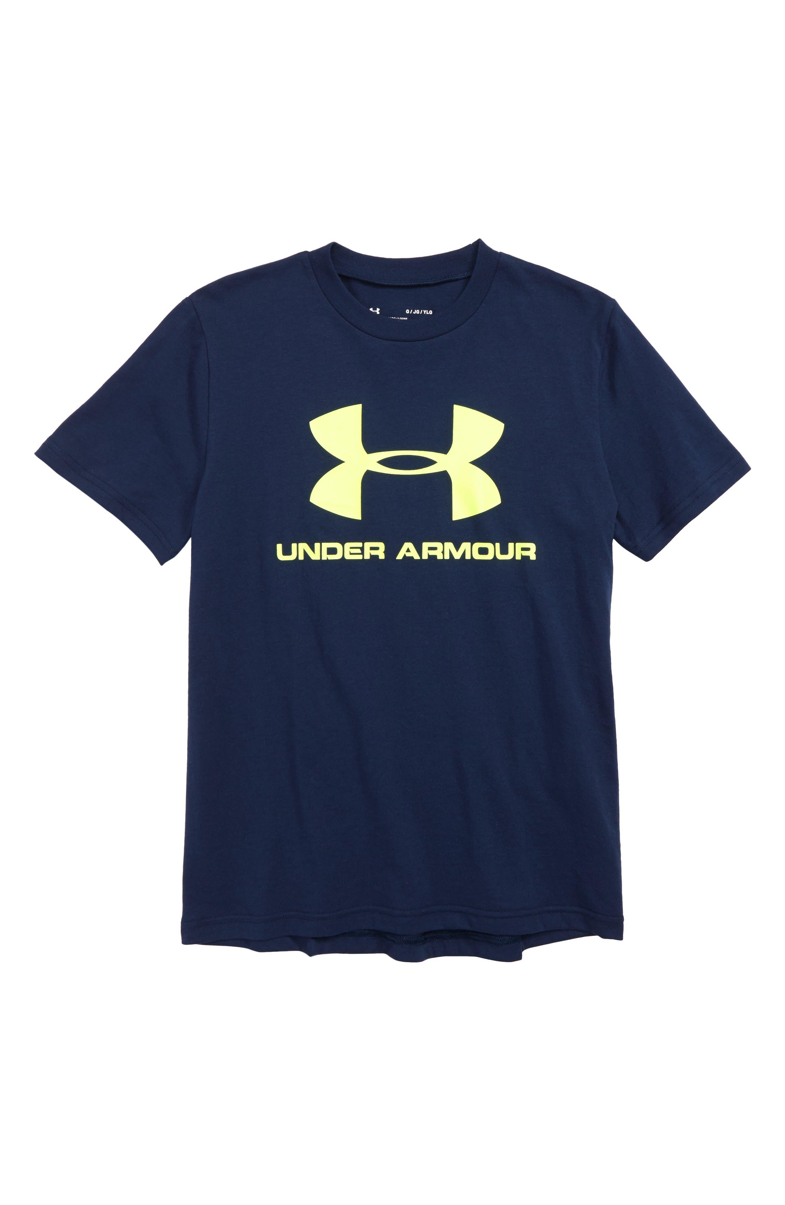 UNDER ARMOUR,                             Sportstyle Logo T-Shirt,                             Main thumbnail 1, color,                             408