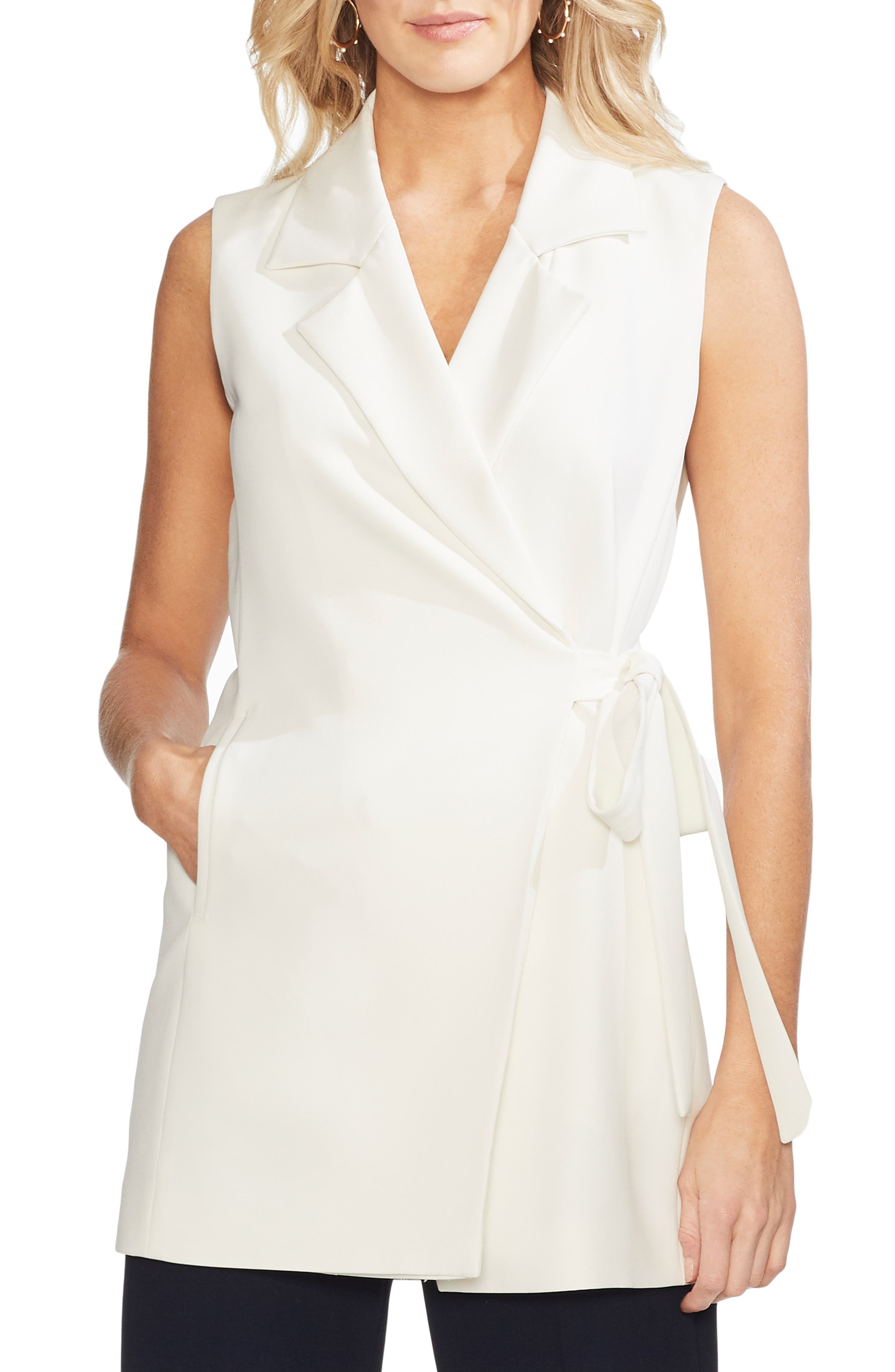 Vince Camuto Tops SLEEVELESS WRAP TOP