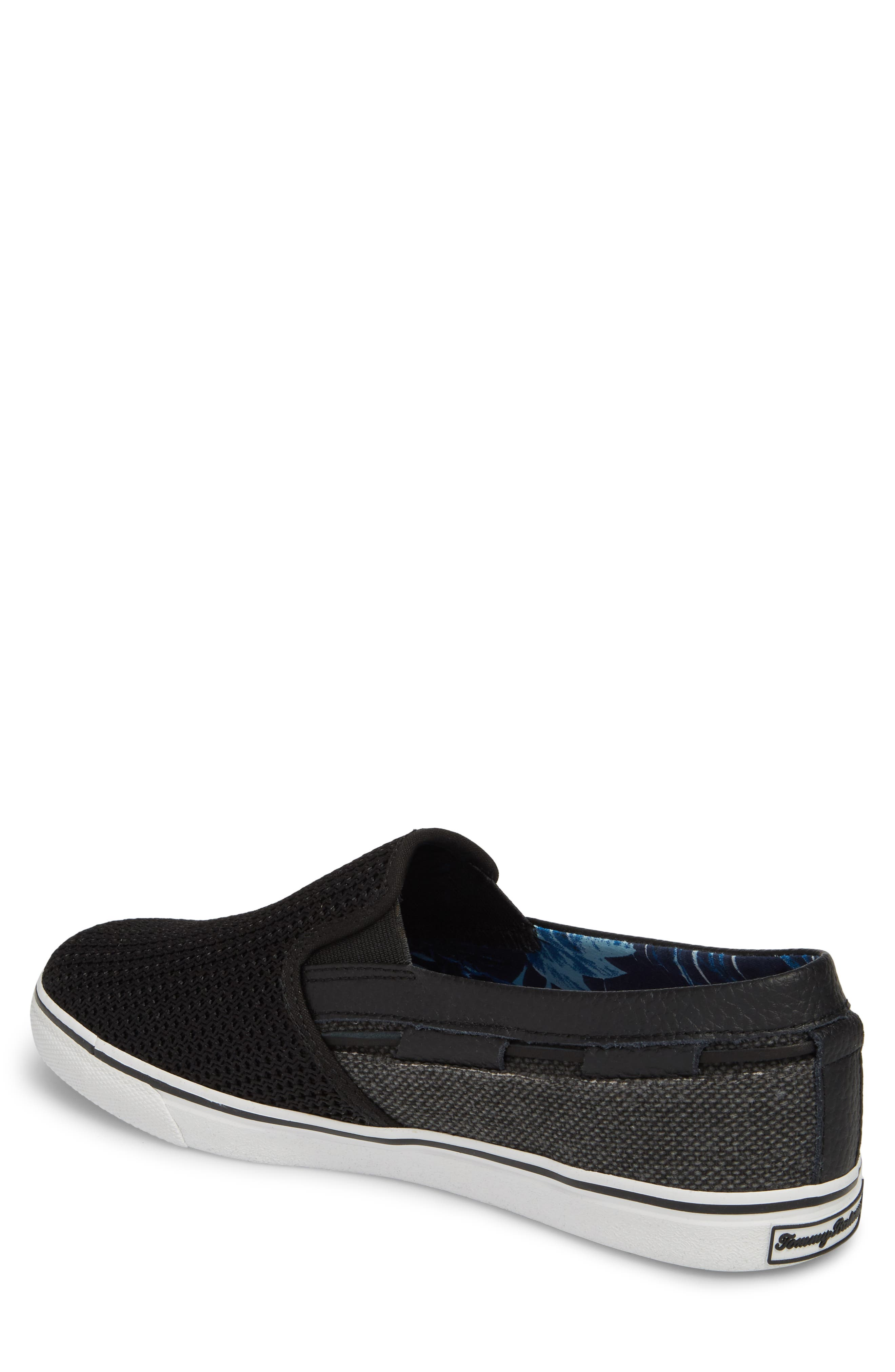 Exodus Mesh Slip-On Sneaker,                             Alternate thumbnail 2, color,                             BLACK MESH/ TEXTILE