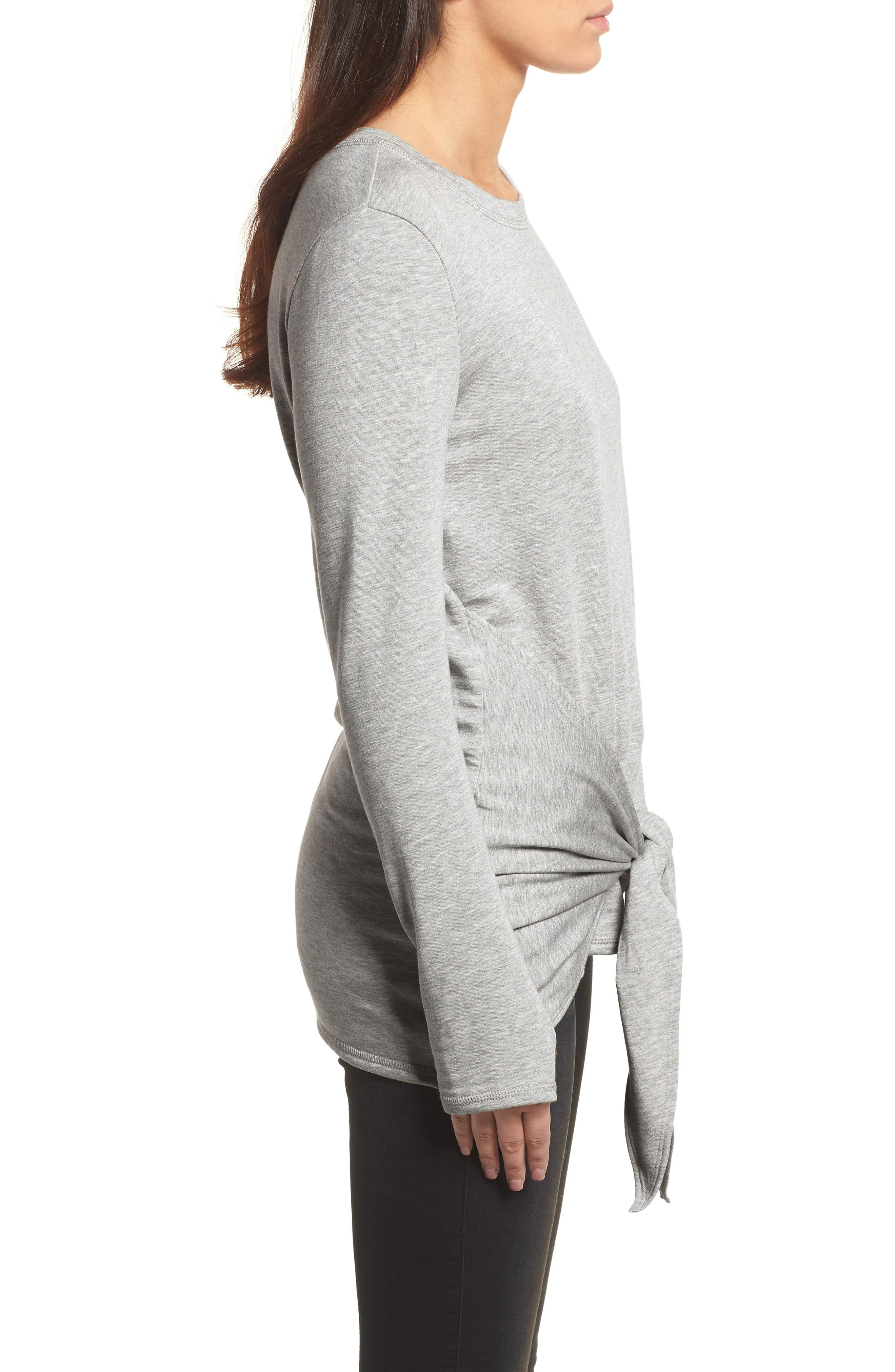 Off-Duty Tie Front Sweatshirt,                             Alternate thumbnail 9, color,