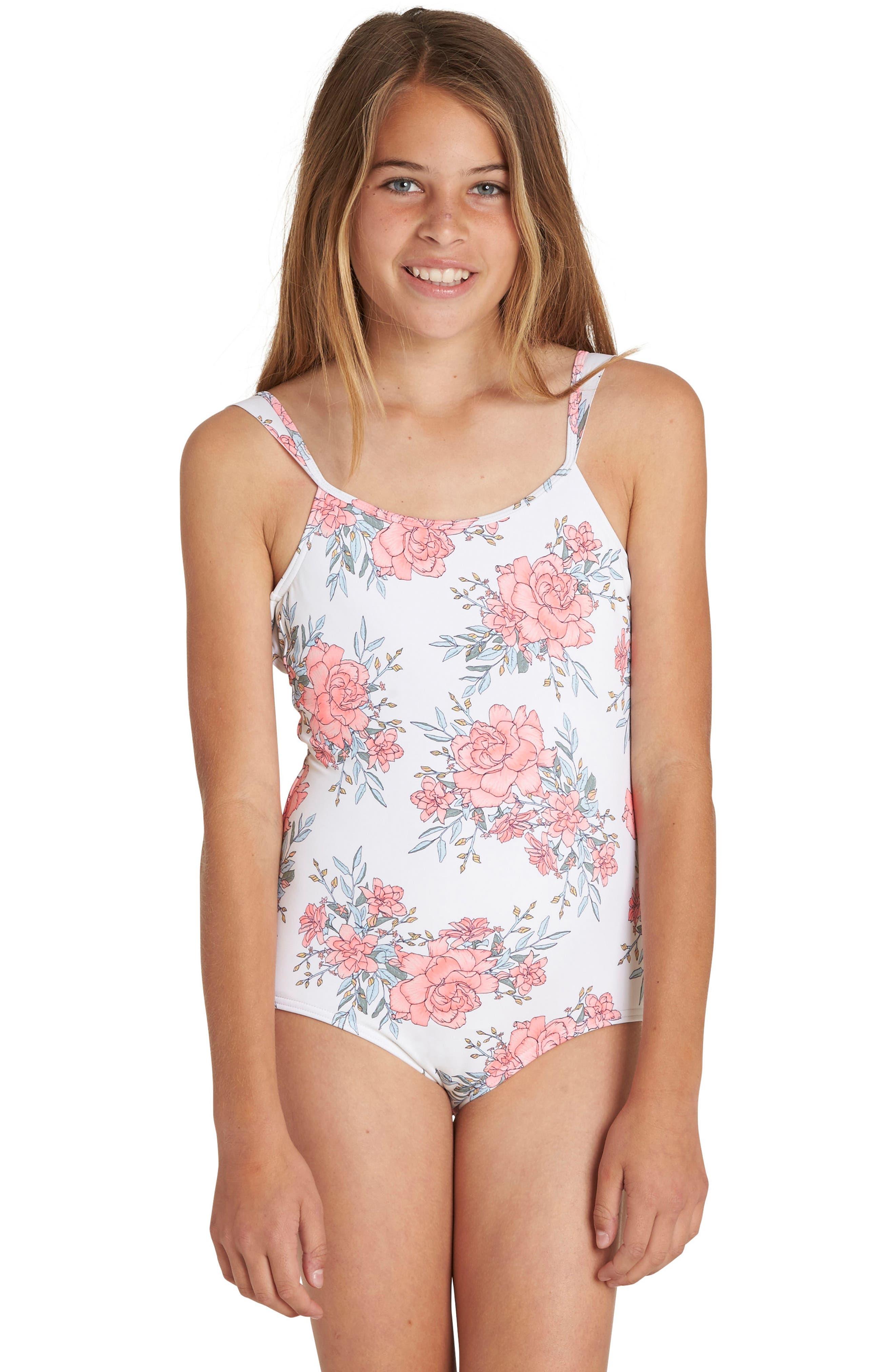Nova Floral One-Piece Swimsuit,                             Alternate thumbnail 4, color,