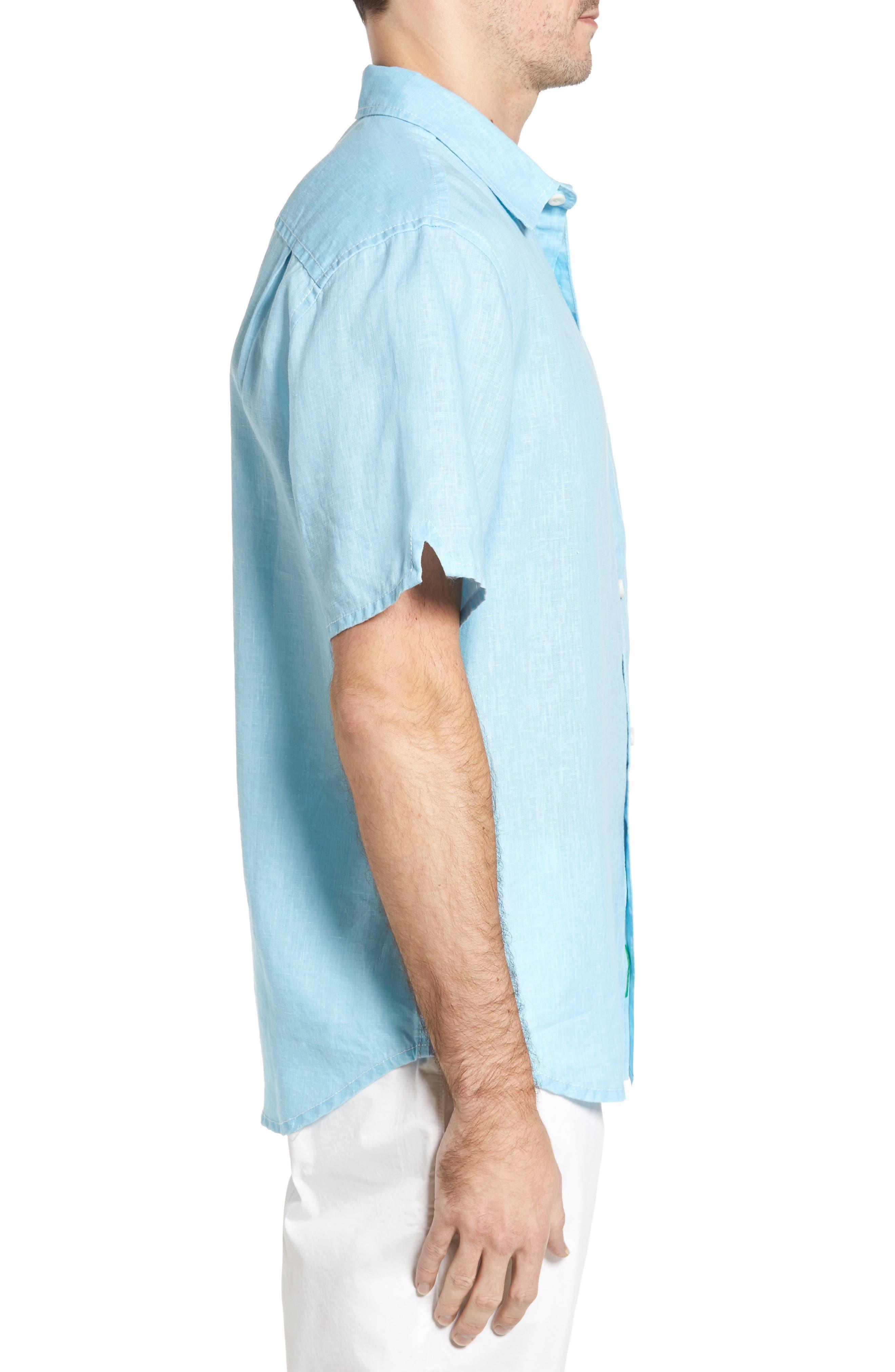 Seaglass Breezer Short Sleeve Linen Sport Shirt,                             Alternate thumbnail 34, color,