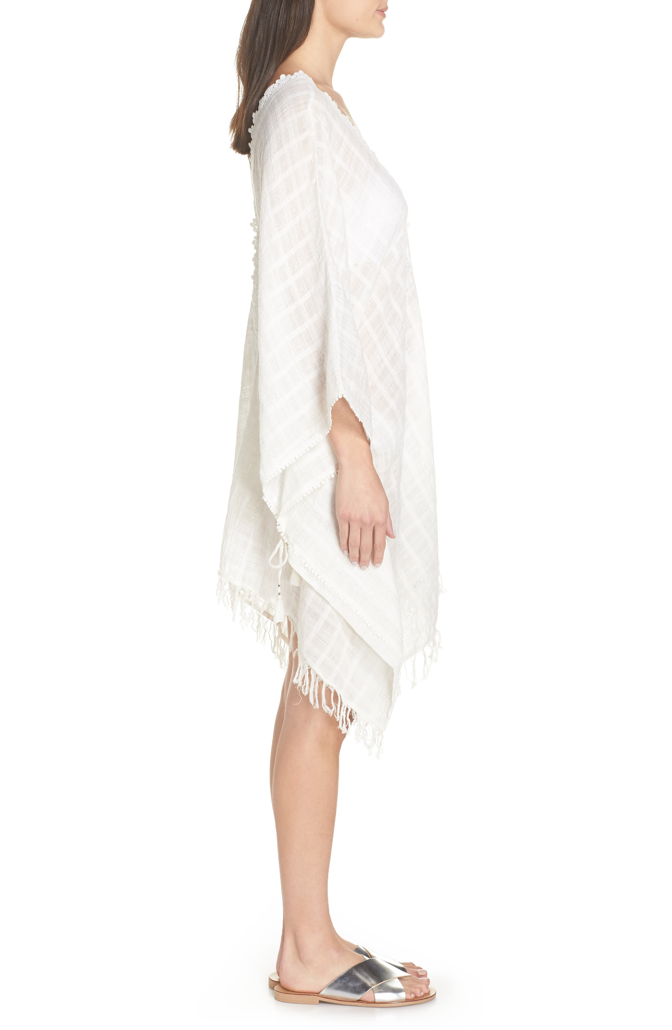 Serendipity Cover-Up Tunic,                             Alternate thumbnail 3, color,                             WHITE-SILVER
