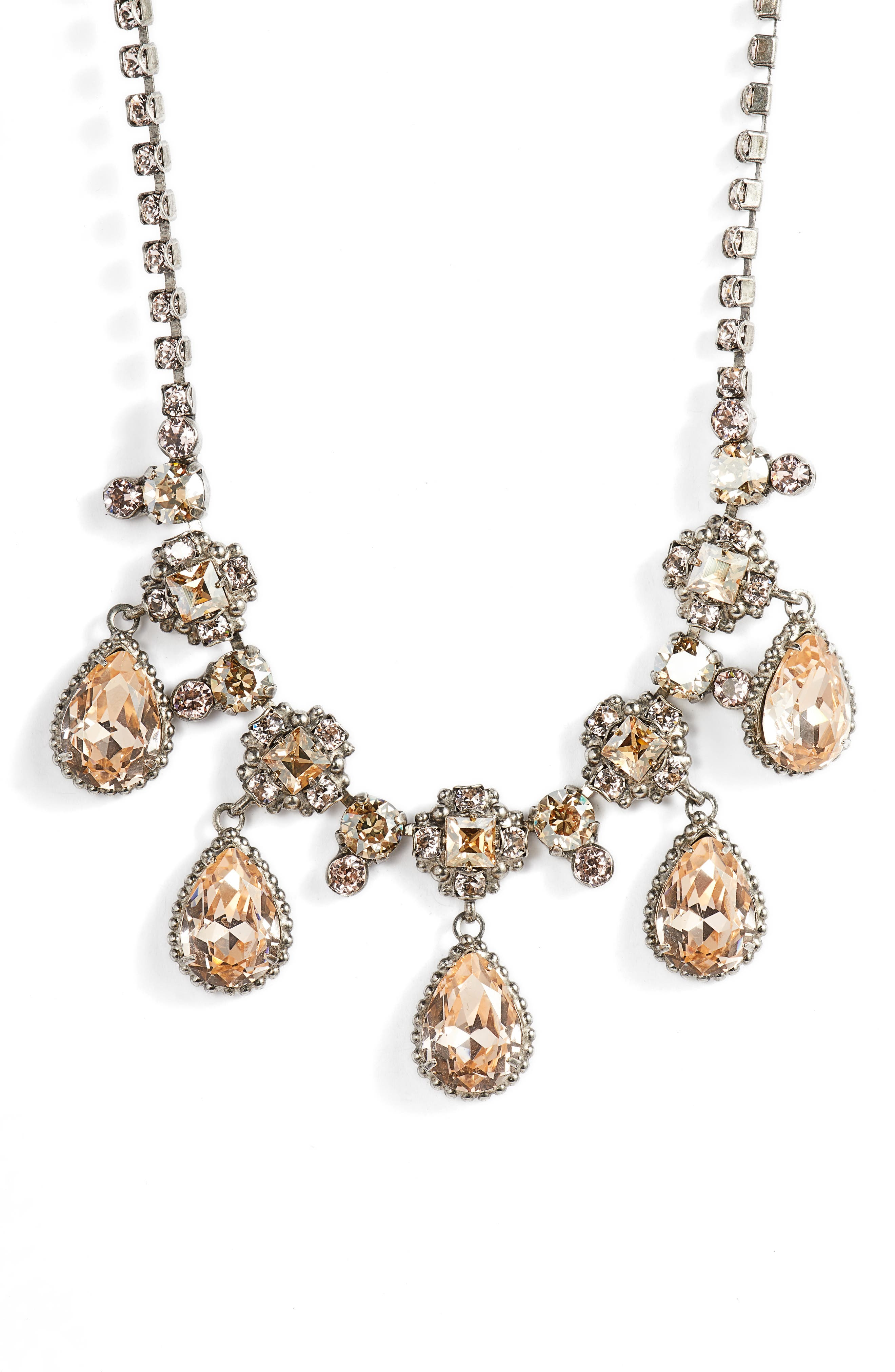 SORRELLI,                             Posey Crystal Statement Necklace,                             Main thumbnail 1, color,                             650
