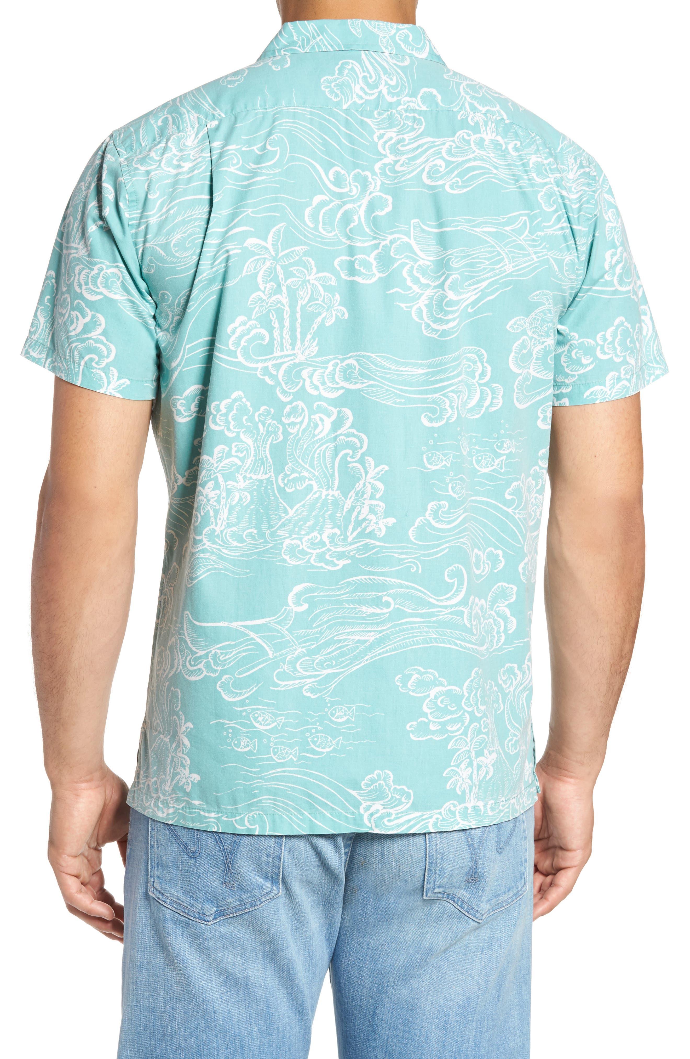 Pele Classic Fit Print Camp Shirt,                             Alternate thumbnail 2, color,                             439