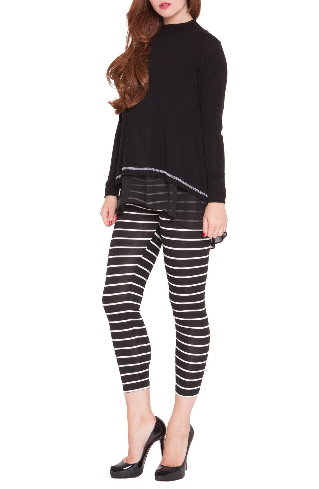 'Janet' High/Low Maternity Top,                             Alternate thumbnail 2, color,                             001