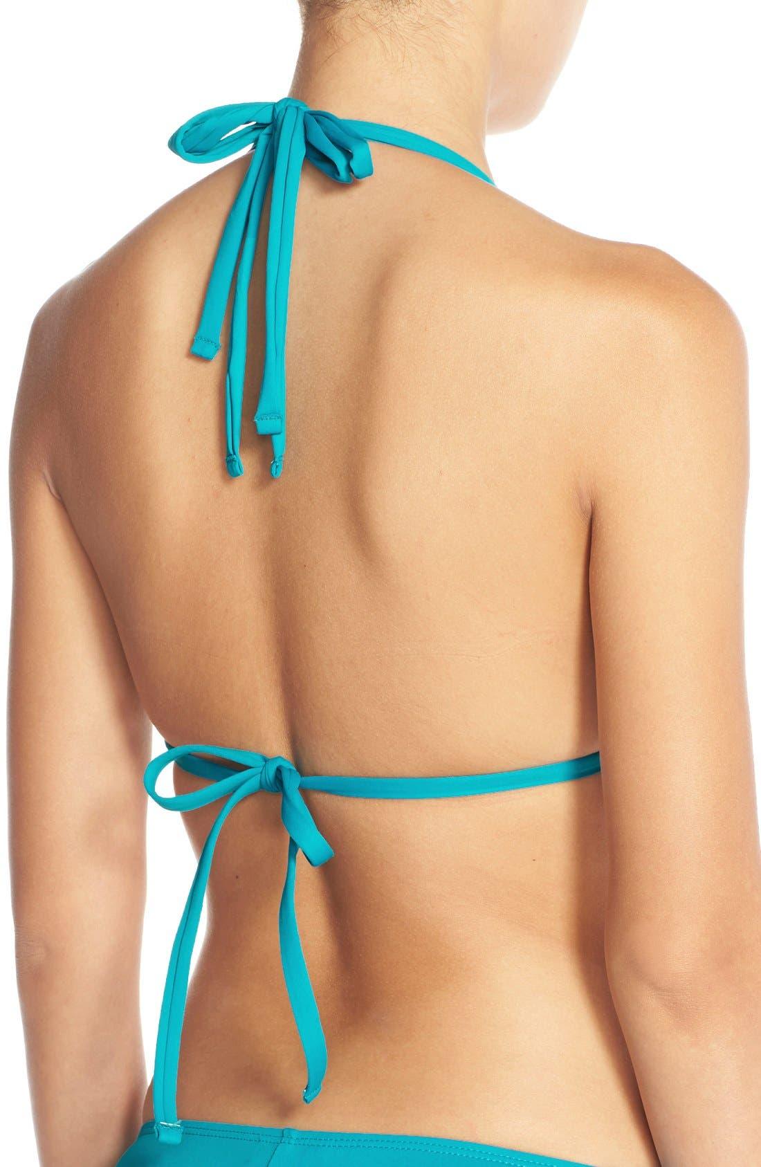 Island Blanca Halter Bikini Top,                             Alternate thumbnail 43, color,