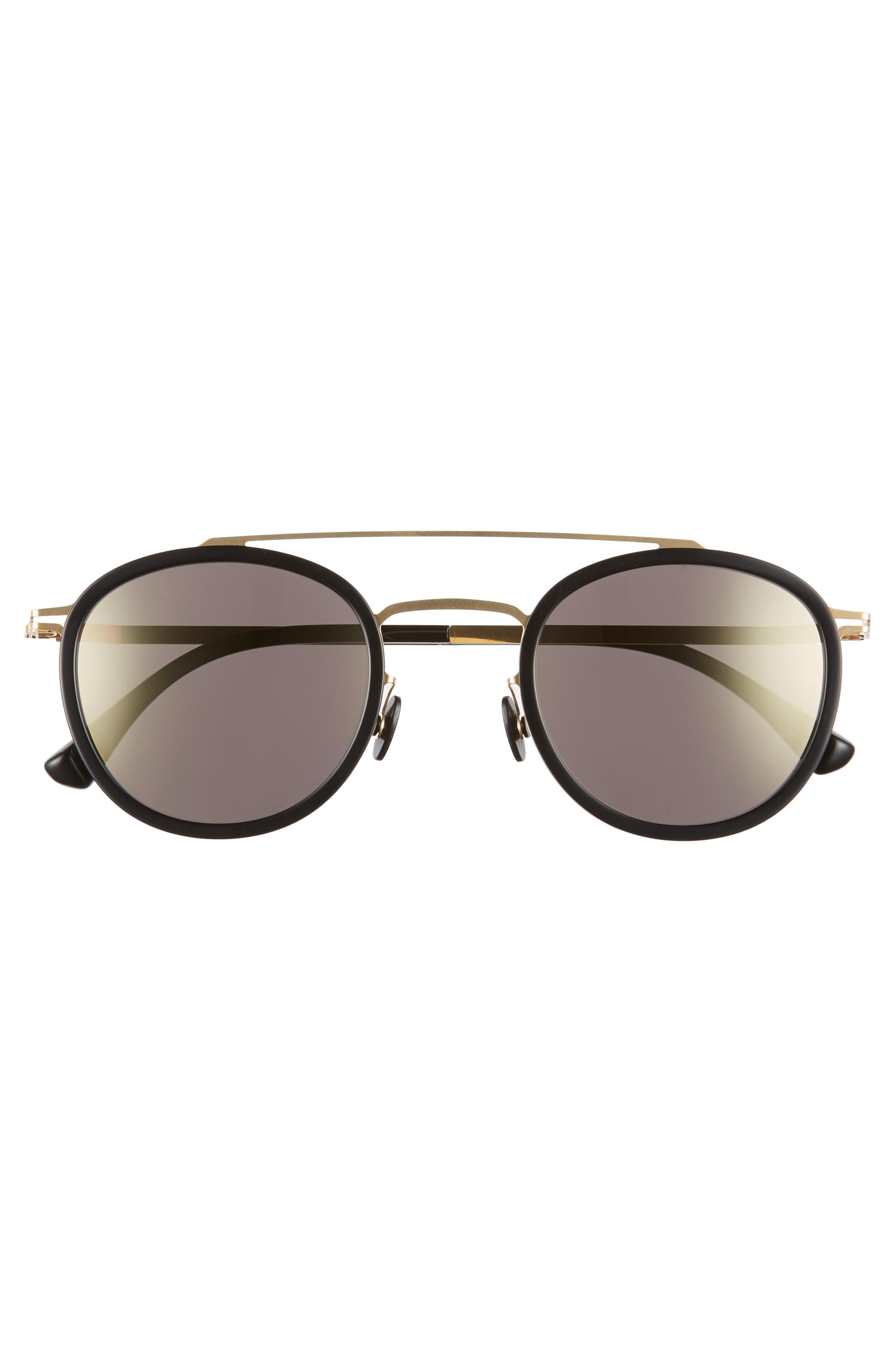 Olli 47mm Aviator Sunglasses,                             Alternate thumbnail 4, color,