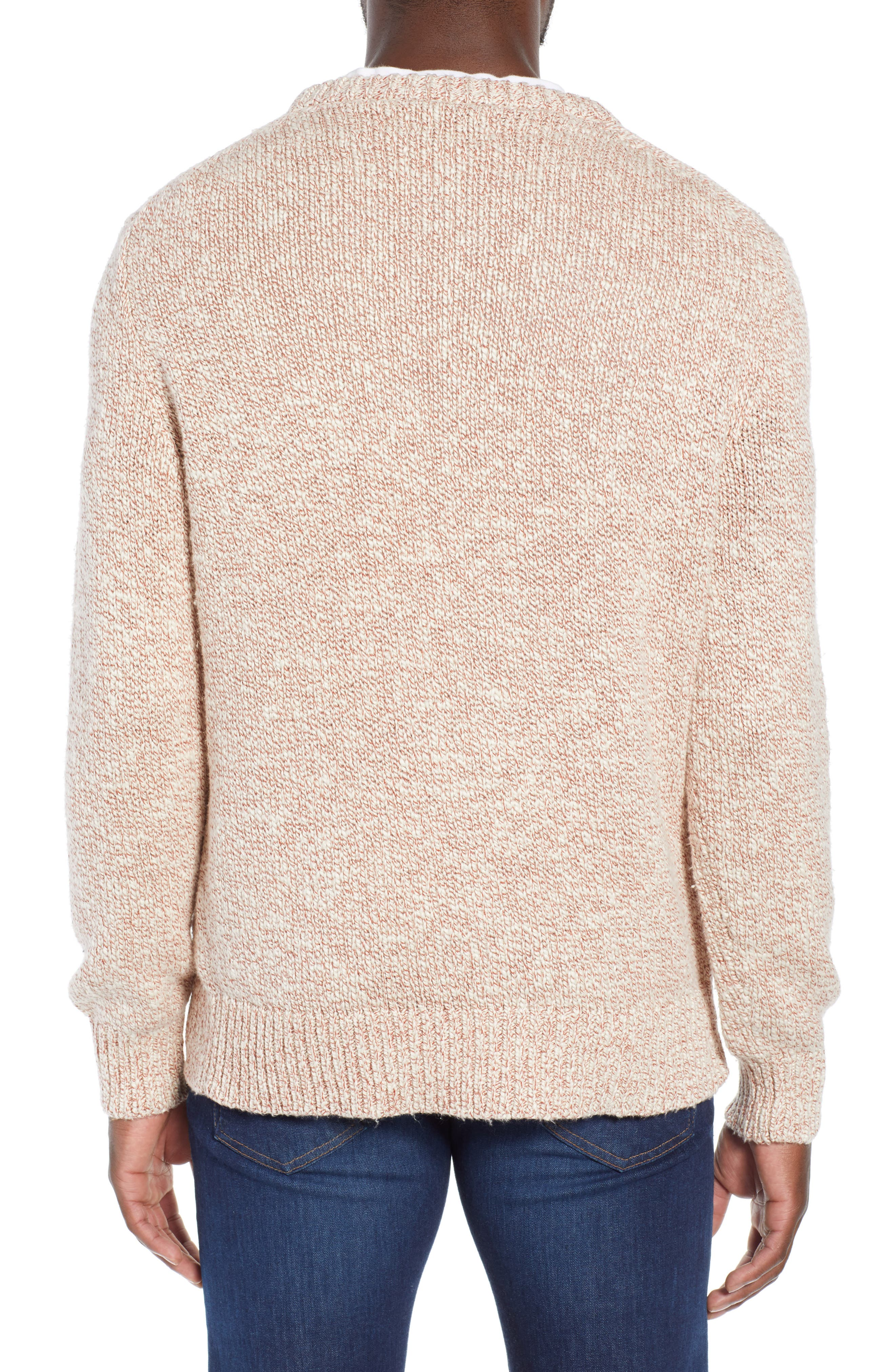 Wallace & Barnes Crewneck Marled Cotton Sweater,                             Alternate thumbnail 2, color,                             TERRACOTTA
