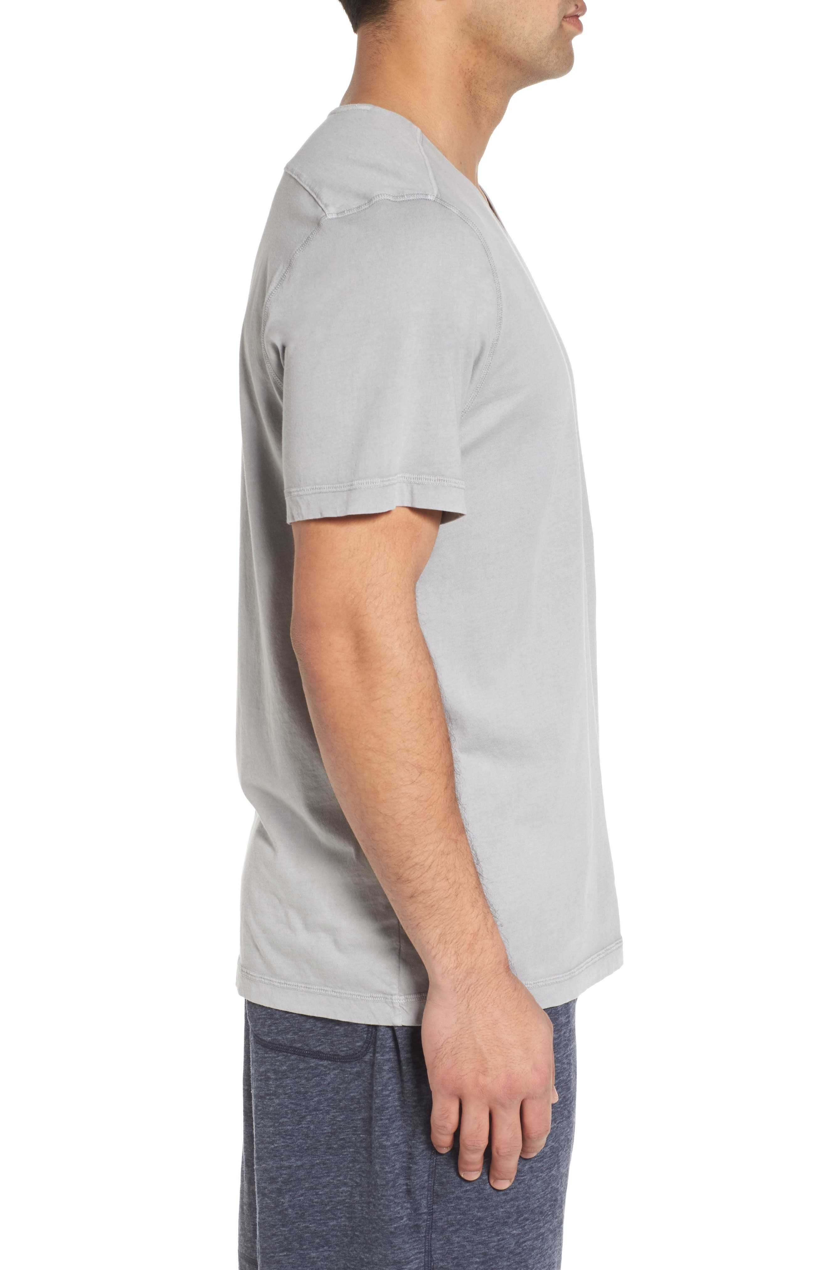 Peruvian Pima Cotton Crewneck T-Shirt,                             Alternate thumbnail 3, color,                             020