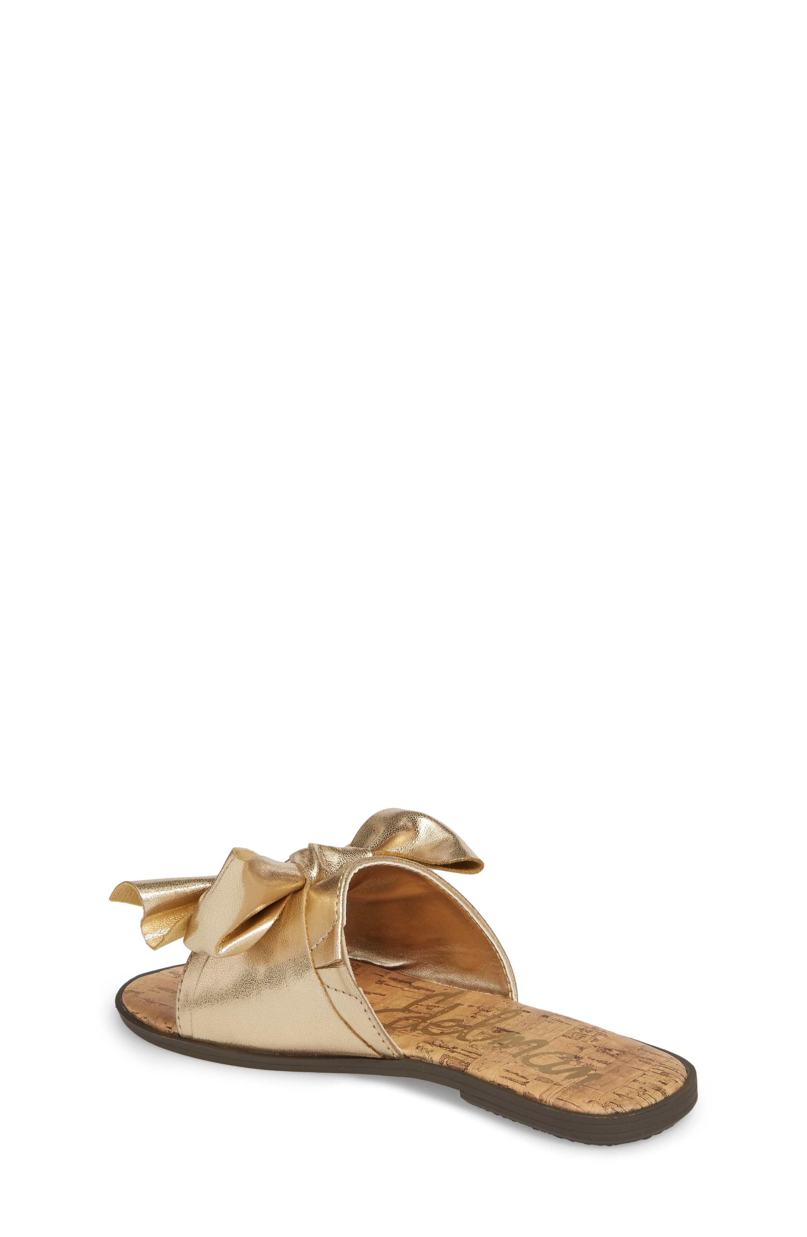 Gigi Bow Faux Leather Sandal,                             Alternate thumbnail 6, color,