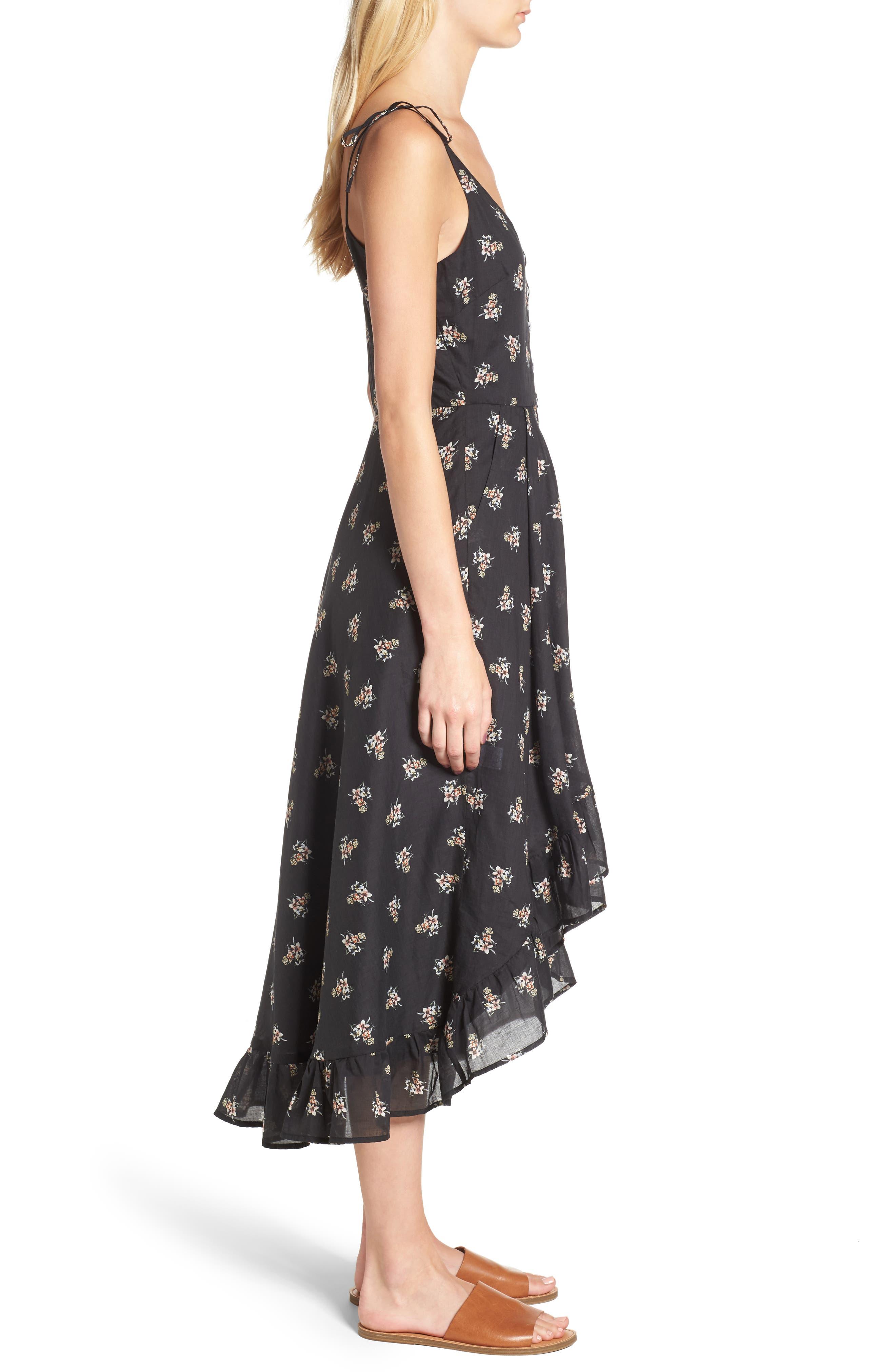 Regal Midi Dress,                             Alternate thumbnail 3, color,                             001