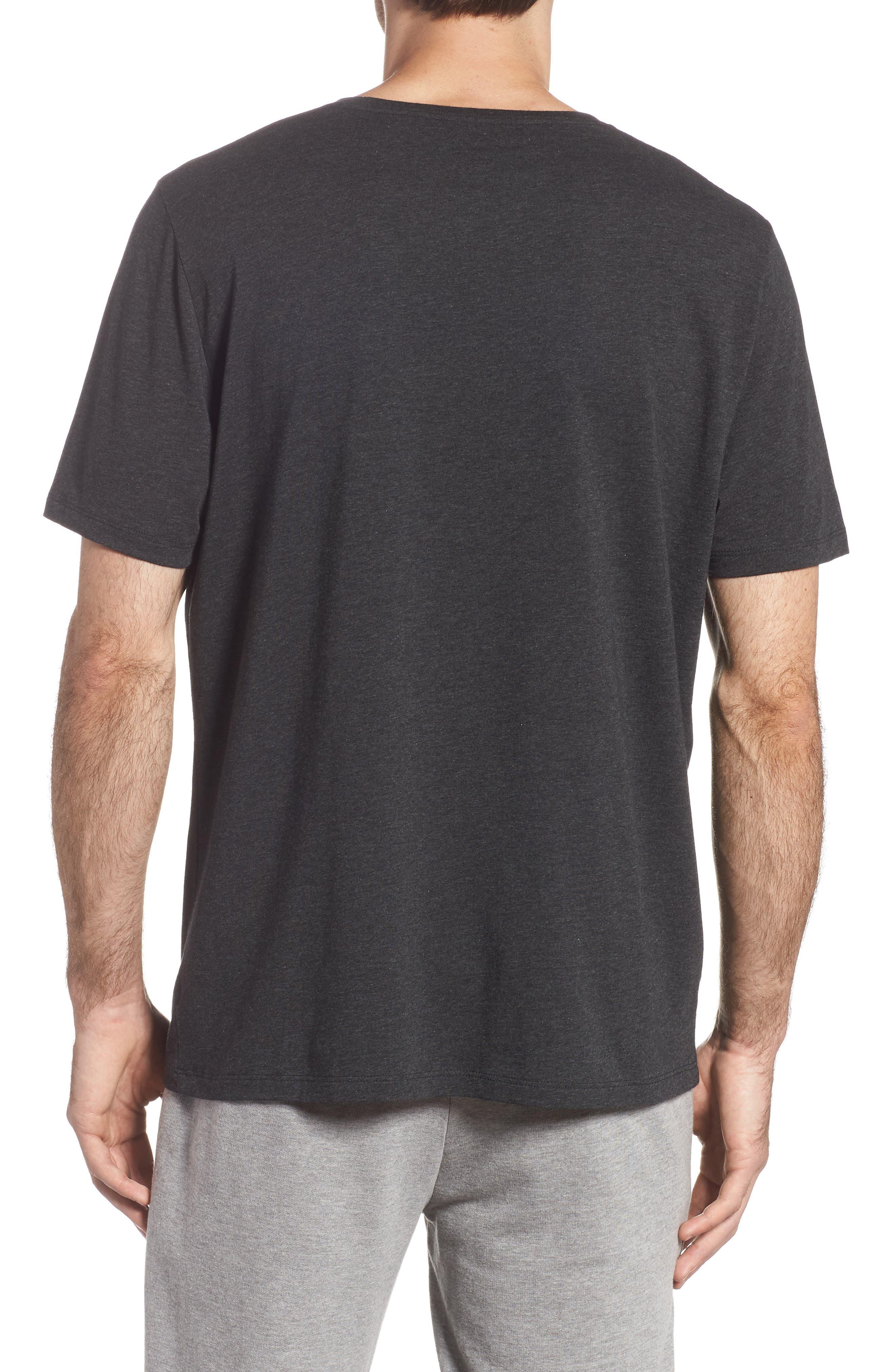Cotton Blend Crewneck T-Shirt,                             Alternate thumbnail 2, color,                             HEATHER CHARCOAL