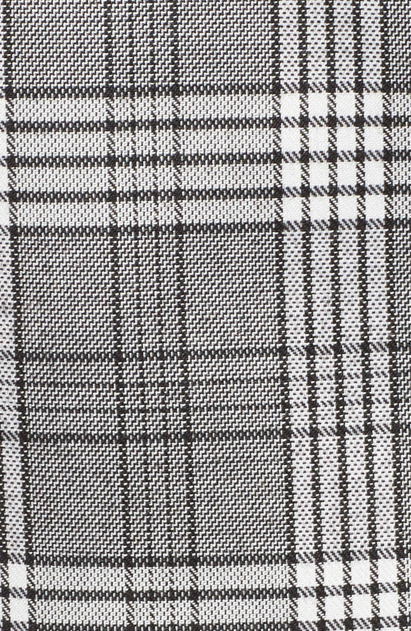 Julie Faux Wrap Plaid Skirt,                             Alternate thumbnail 5, color,                             250