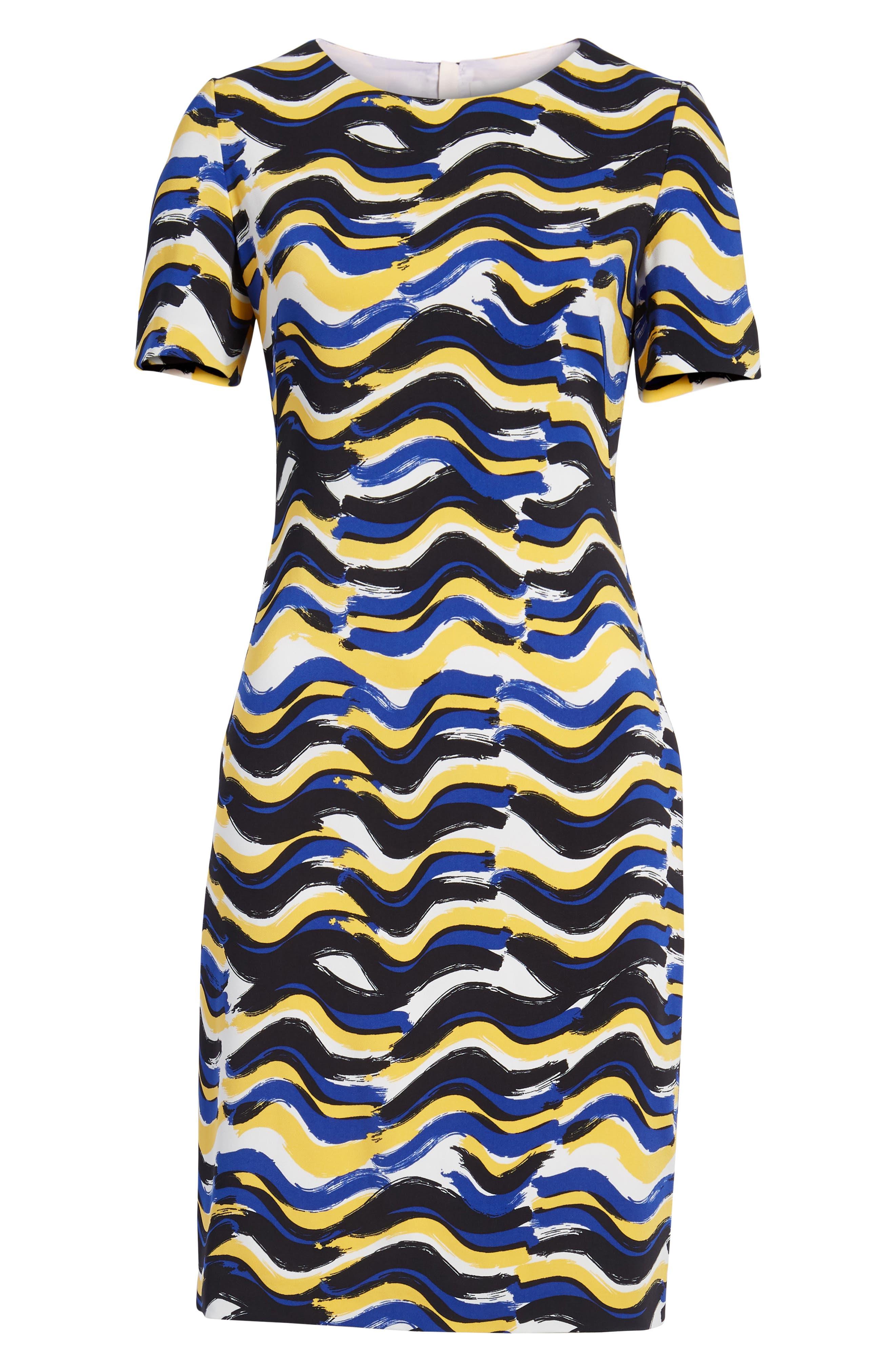 BOSS,                             Dashiba Color Waves Dress,                             Alternate thumbnail 7, color,                             782