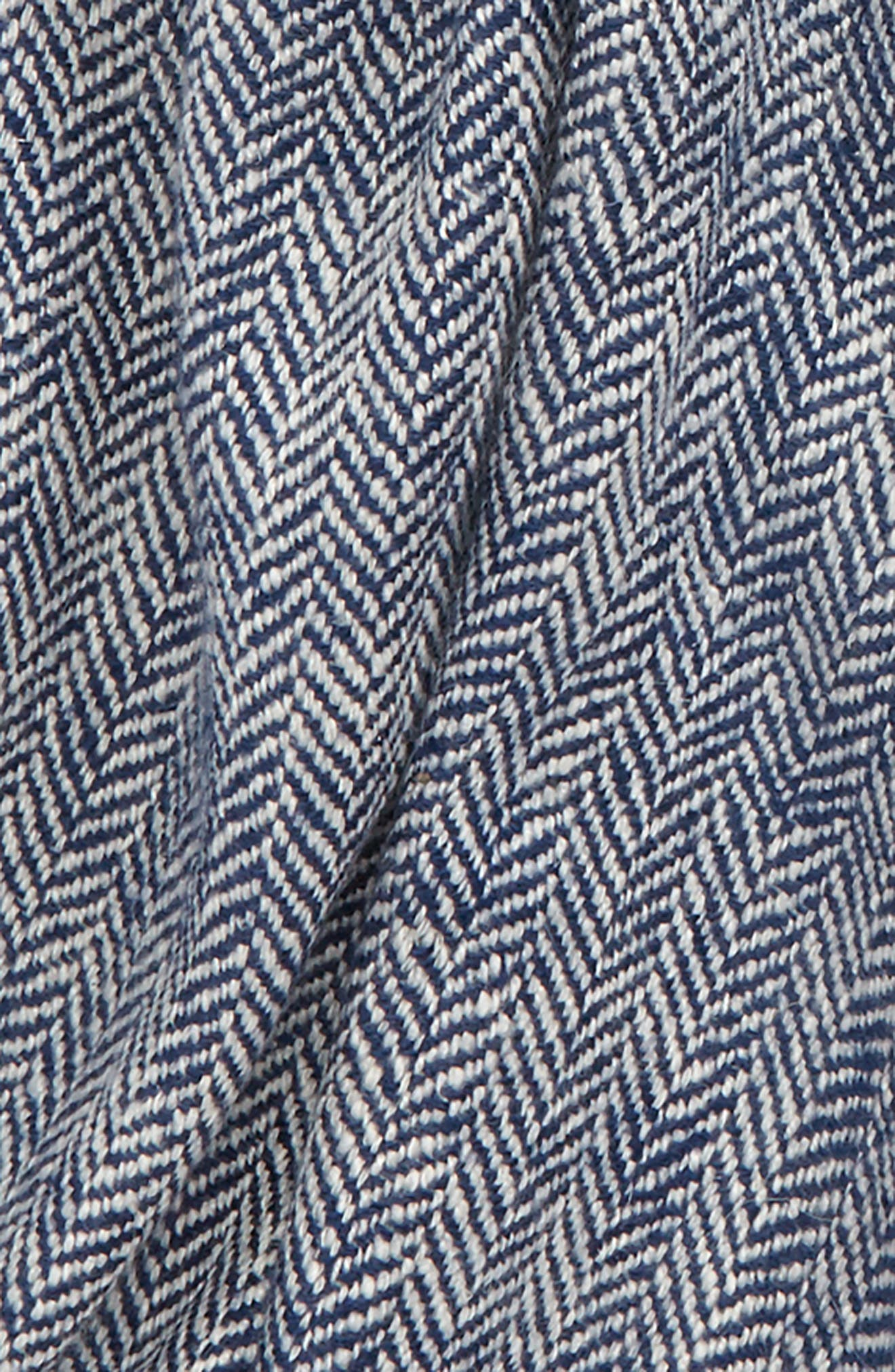 Drakes Chunky Herringbone Cashmere Scarf,                             Alternate thumbnail 3, color,                             460