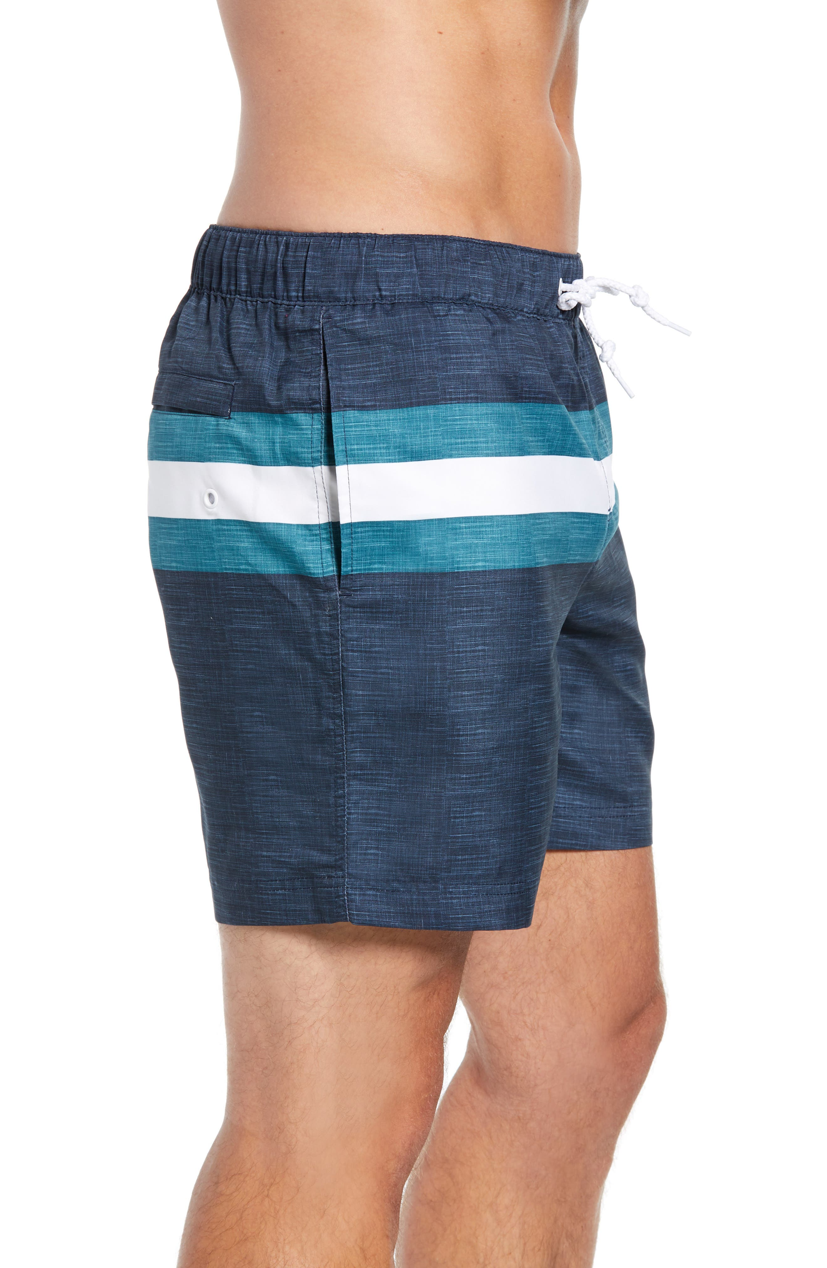 Colorblock Swim Trunks,                             Alternate thumbnail 3, color,                             DARK SAPPHIRE