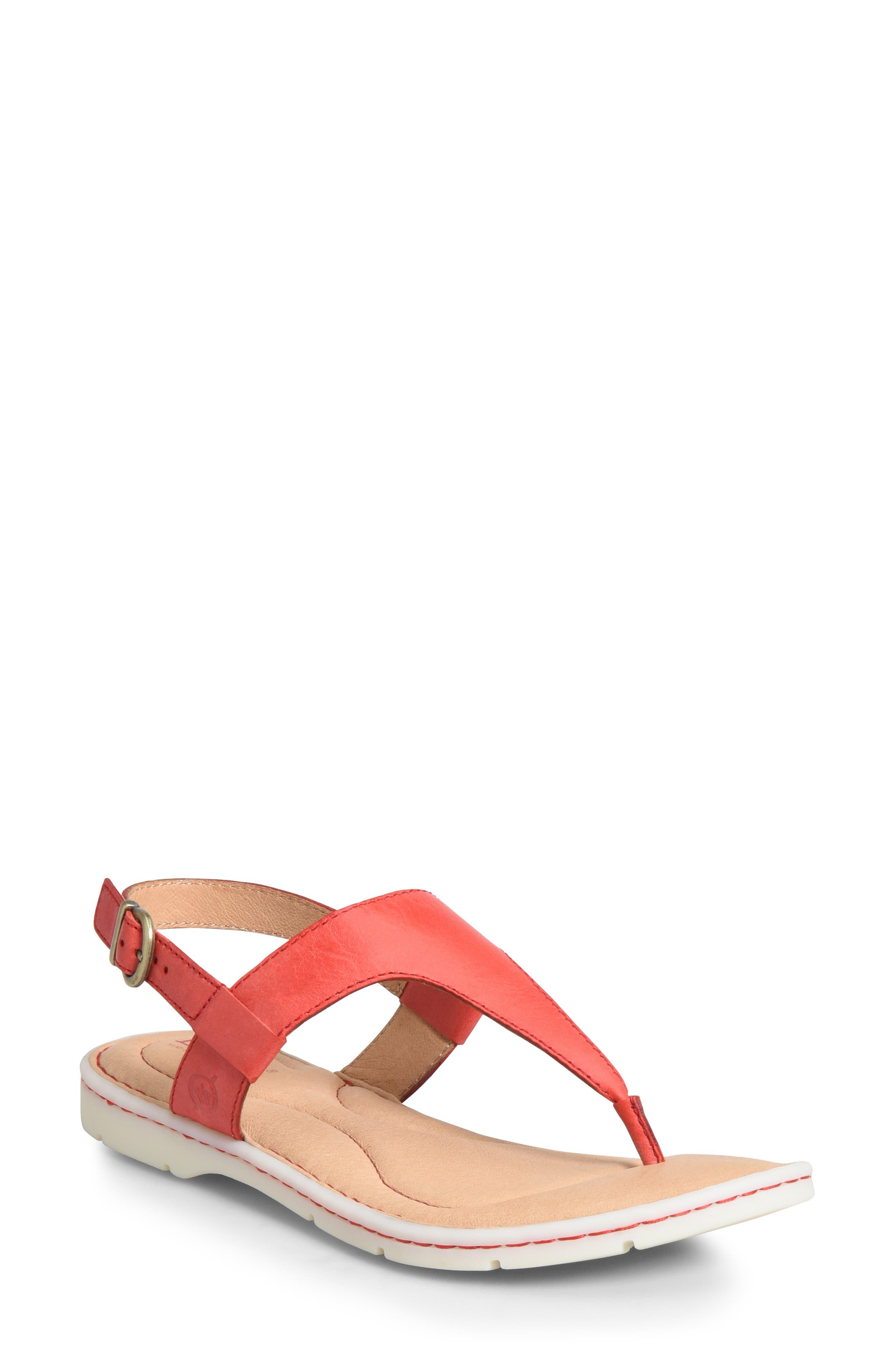B?rn Taylor V-Strap Sandal, Red