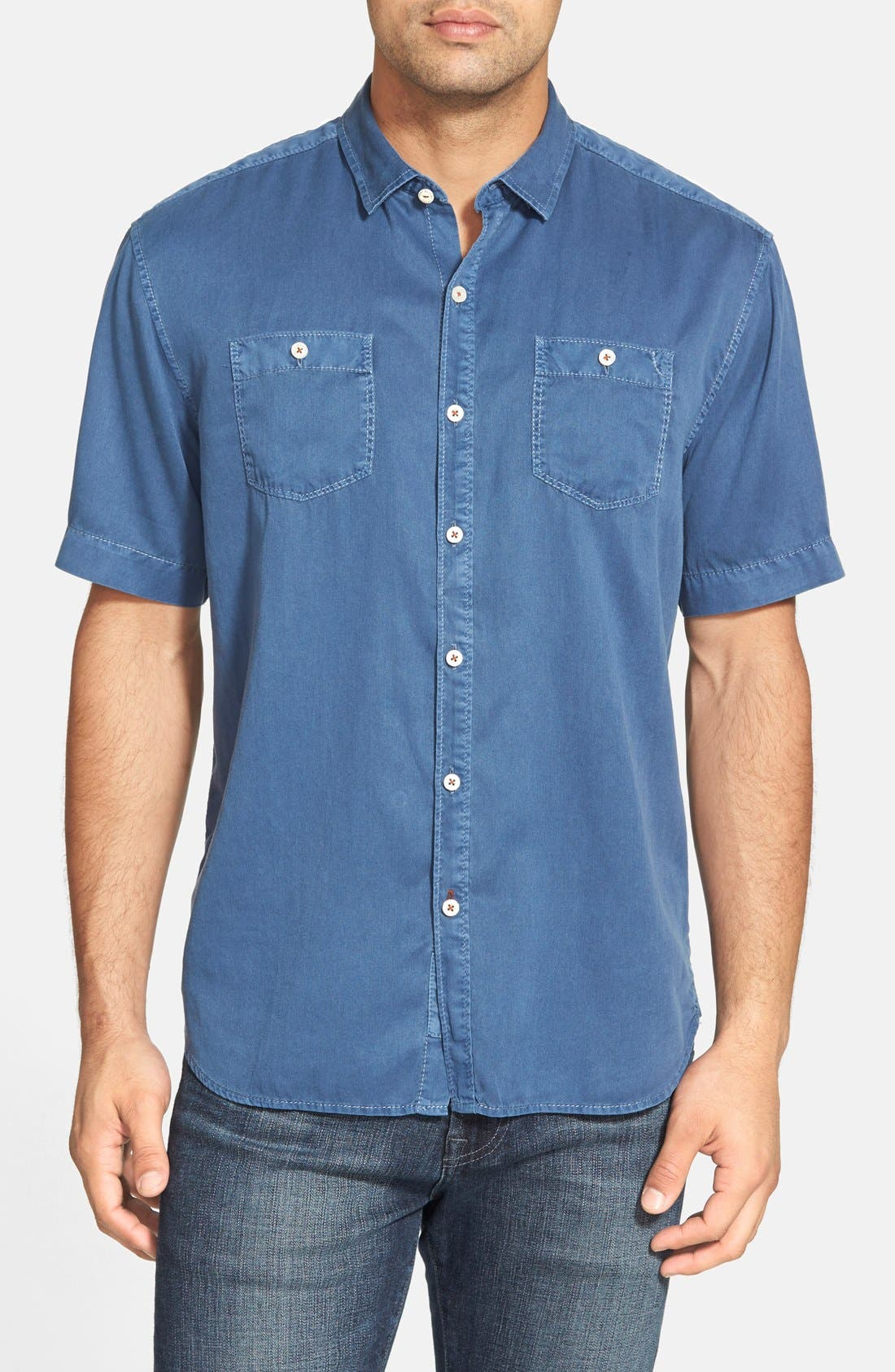 'New Twilly' Island Modern Fit Short Sleeve Twill Shirt,                             Main thumbnail 11, color,