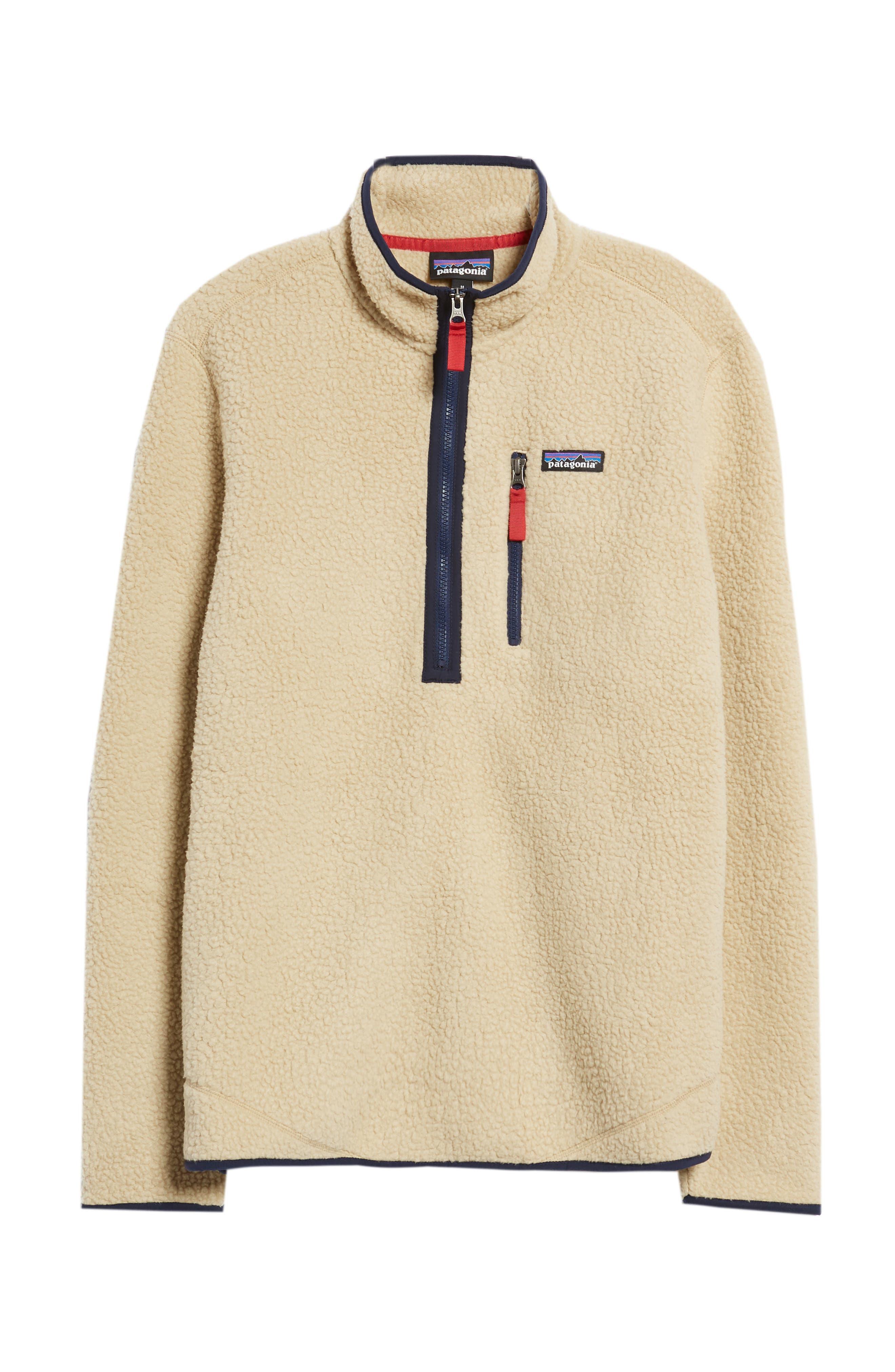 Retro Pile Fleece Zip Jacket,                             Alternate thumbnail 6, color,                             EL CAP KHAKI