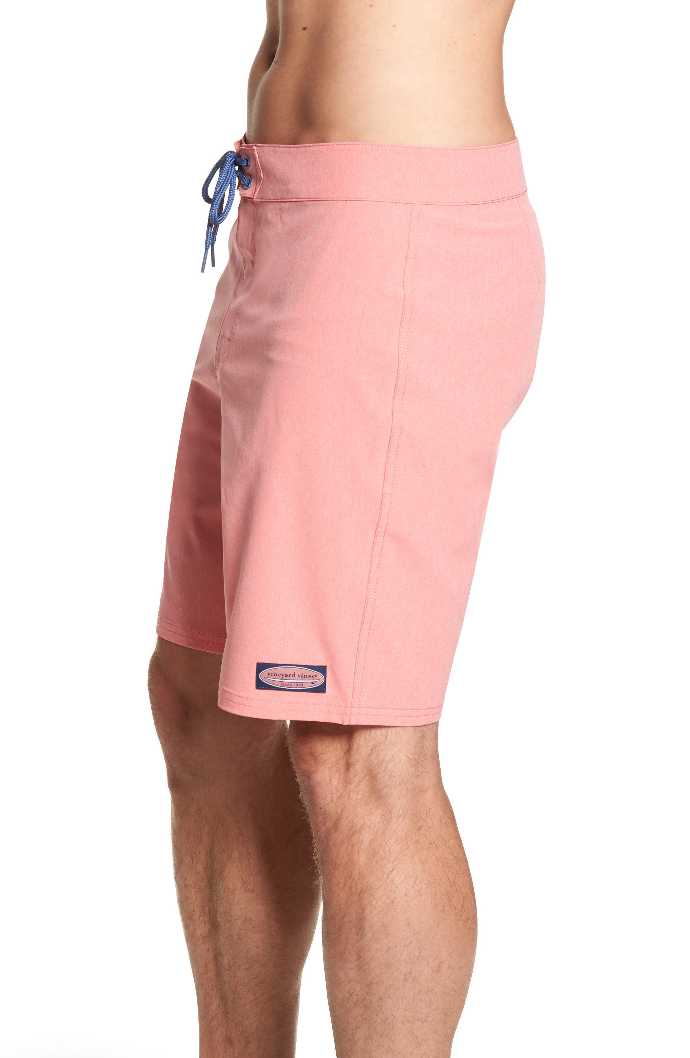 Heather Stretch Board Shorts,                             Alternate thumbnail 4, color,                             LOBSTER REEF