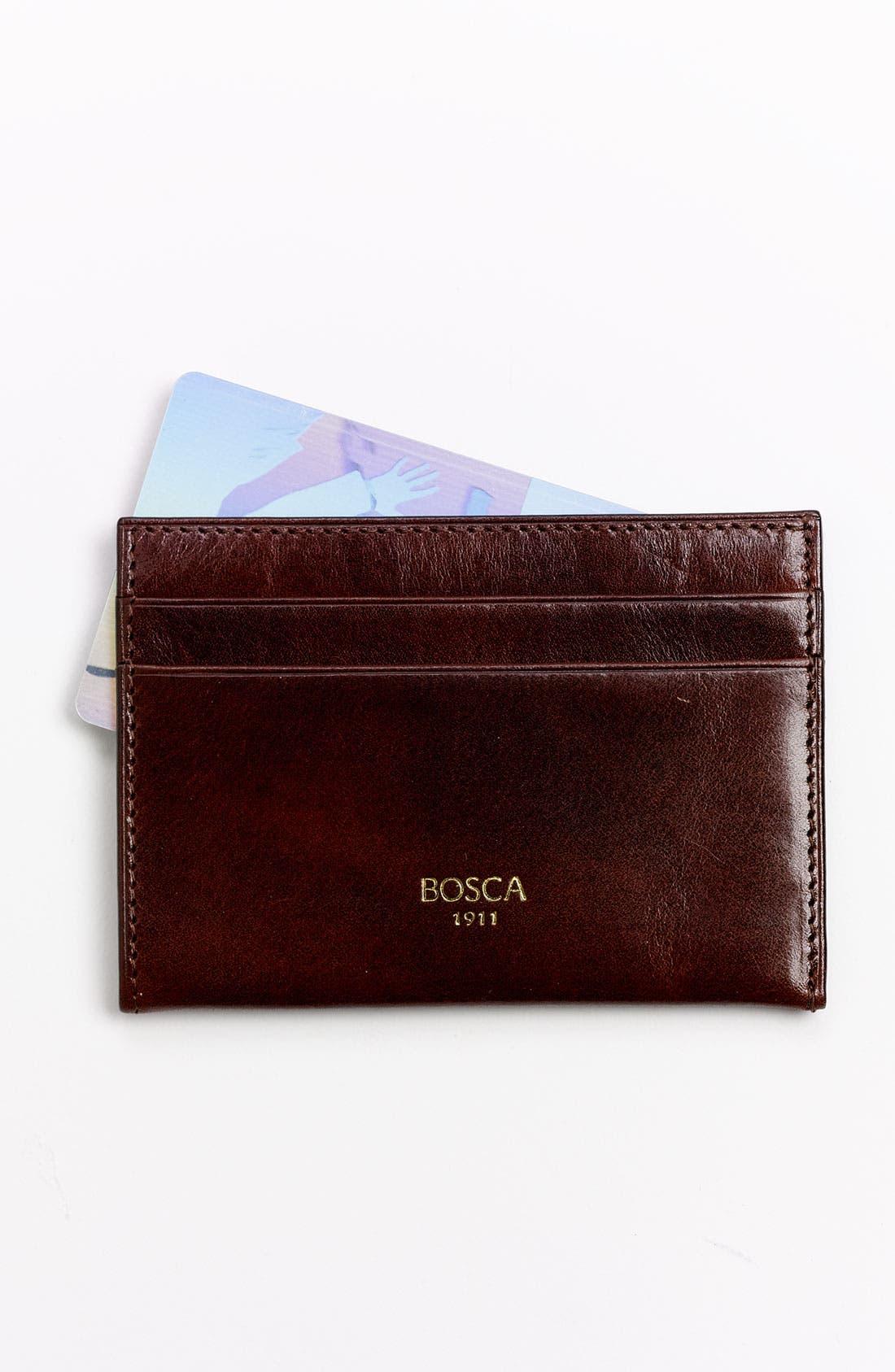 BOSCA 'Old Leather' Weekend Wallet, Main, color, DARK BROWN