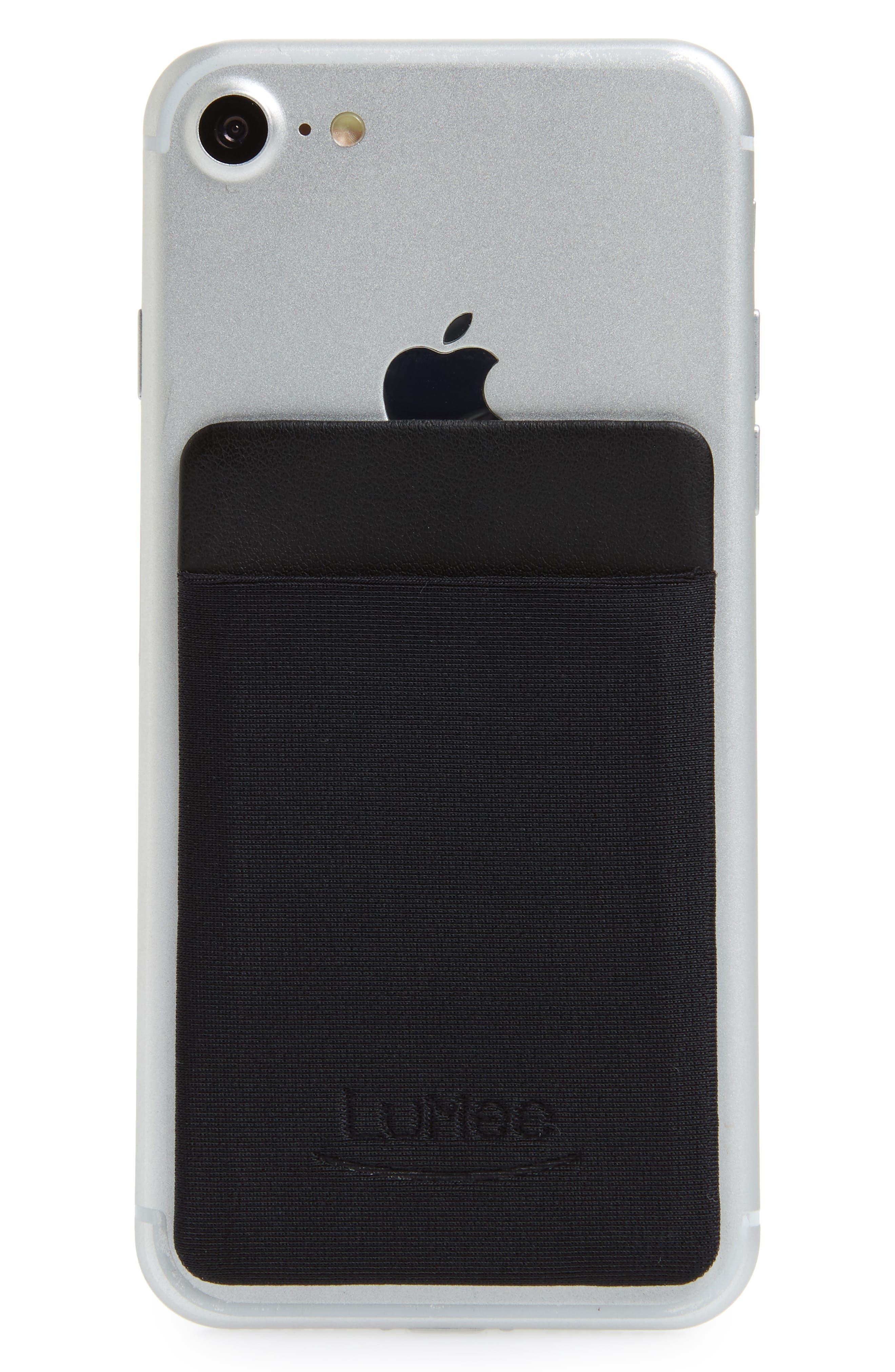 Card Phone Pocket,                             Main thumbnail 1, color,                             BLACK