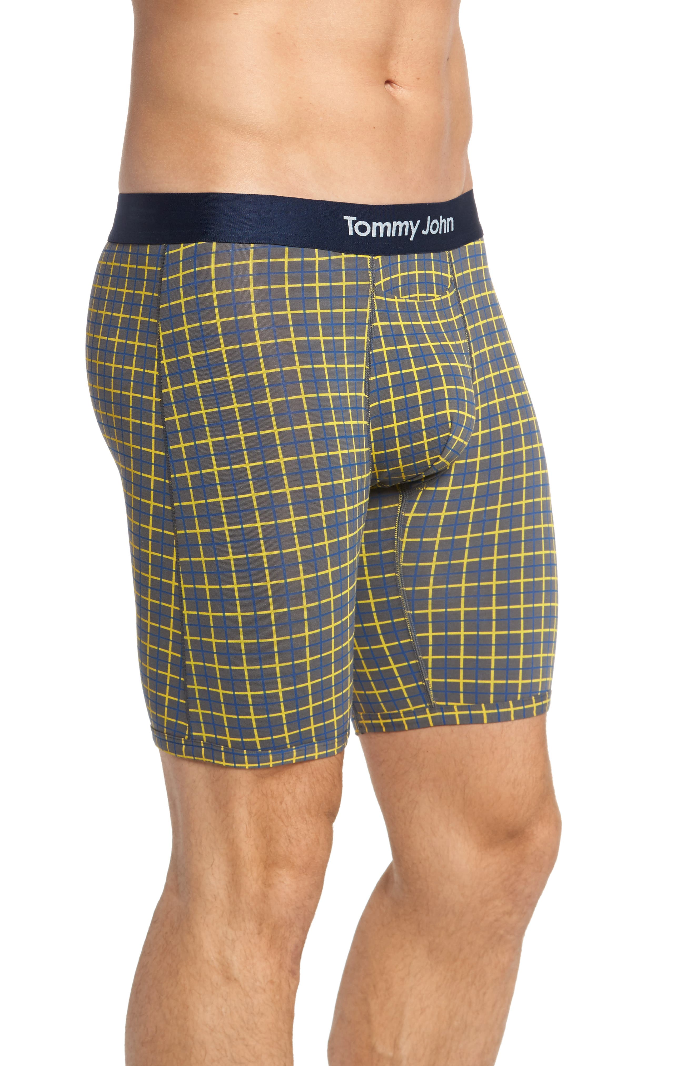 Cool Cotton Quad Print Boxer Briefs,                             Alternate thumbnail 3, color,                             052