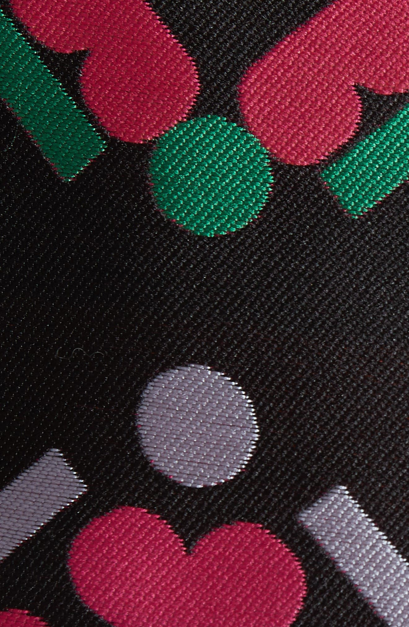 Melinda Geometric Jacquard Sheath Dress,                             Alternate thumbnail 5, color,                             001