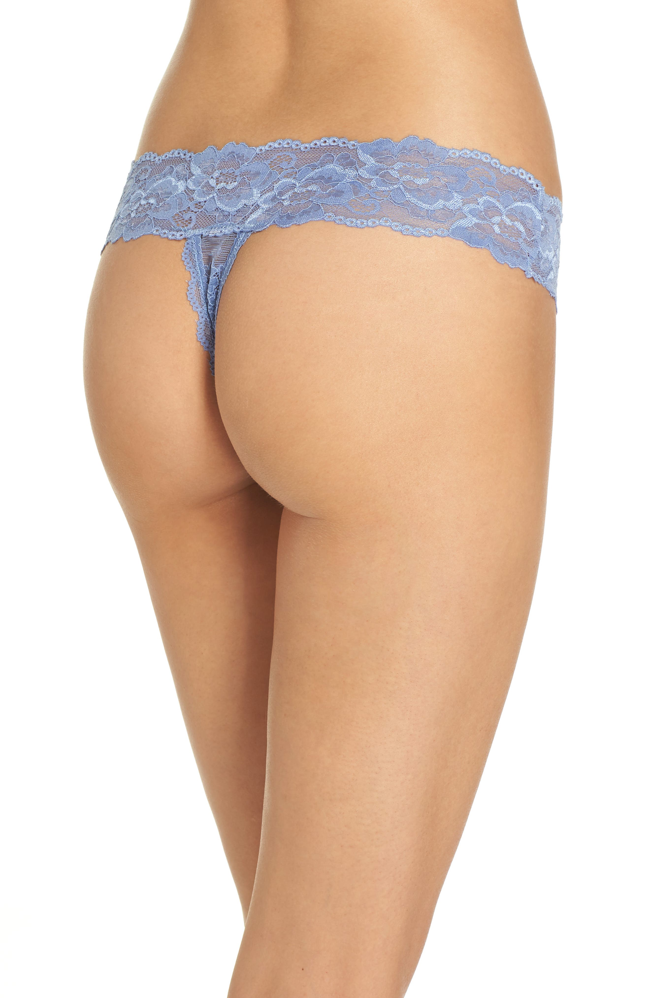 Honeydew Lace Thong,                             Alternate thumbnail 22, color,