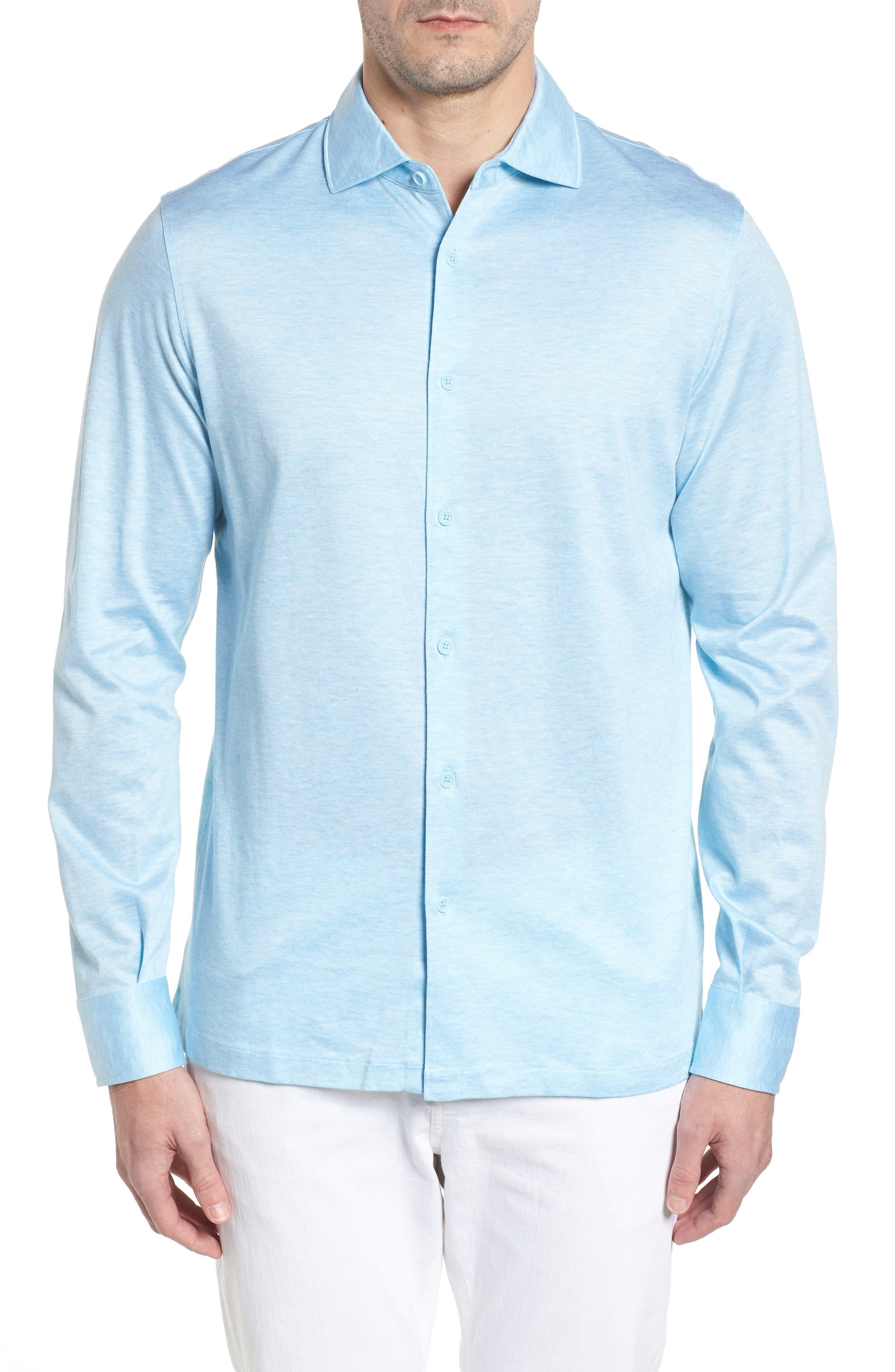 Regular Fit Silk Blend Sport Shirt,                             Main thumbnail 4, color,