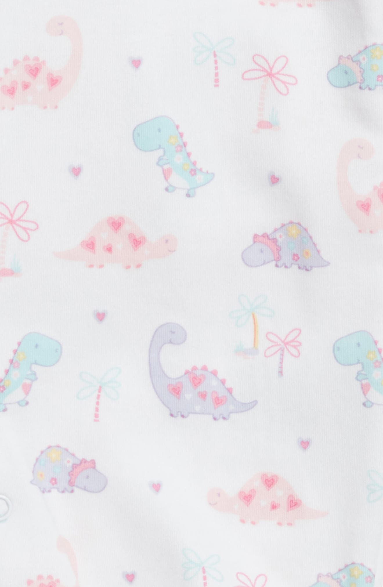 Dino Darling Pima Cotton Footie,                             Alternate thumbnail 2, color,
