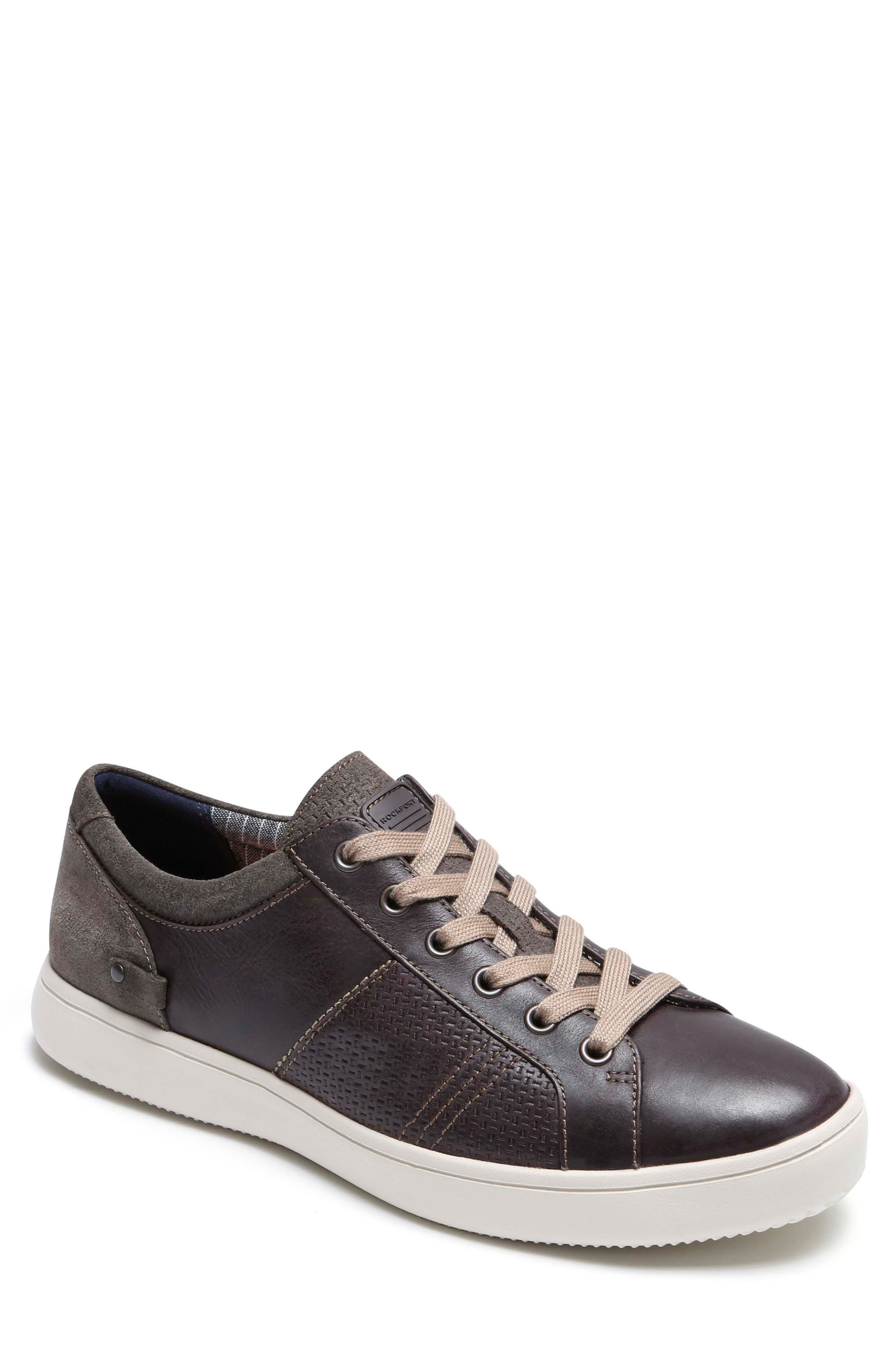 Colle Textured Sneaker,                         Main,                         color, COFFEE LEATHER