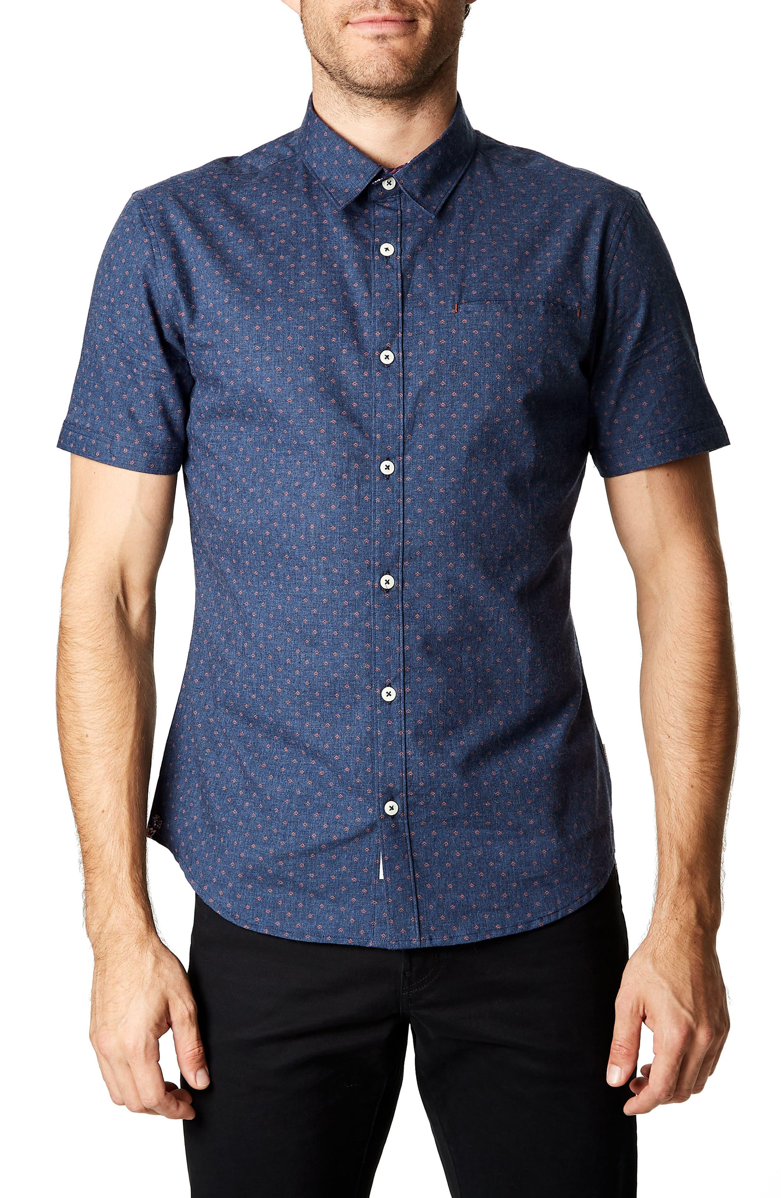 American Dream Trim Fit Sport Shirt, Main, color, 410