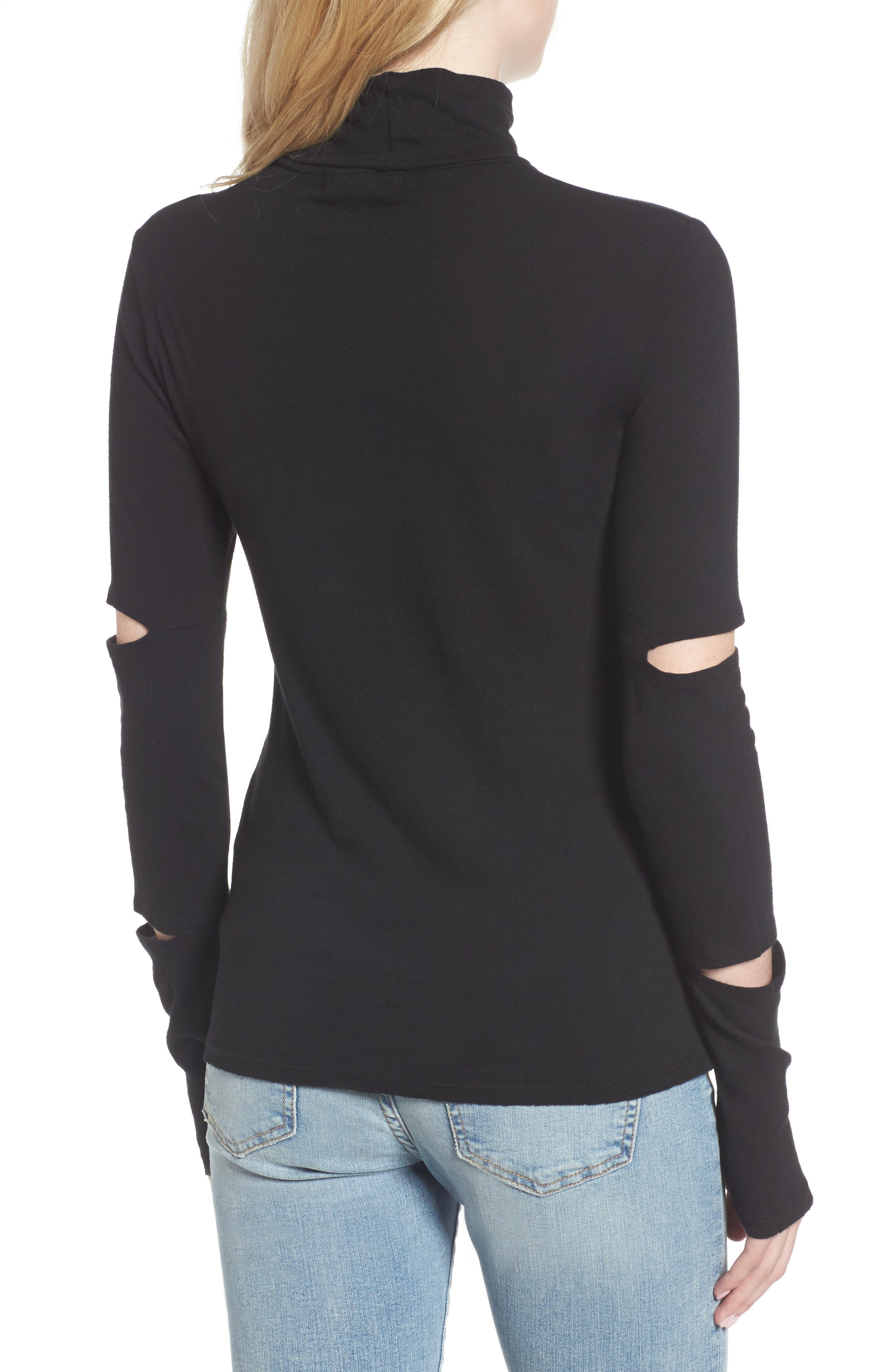 Easton Cutout Turtleneck,                             Alternate thumbnail 2, color,                             001