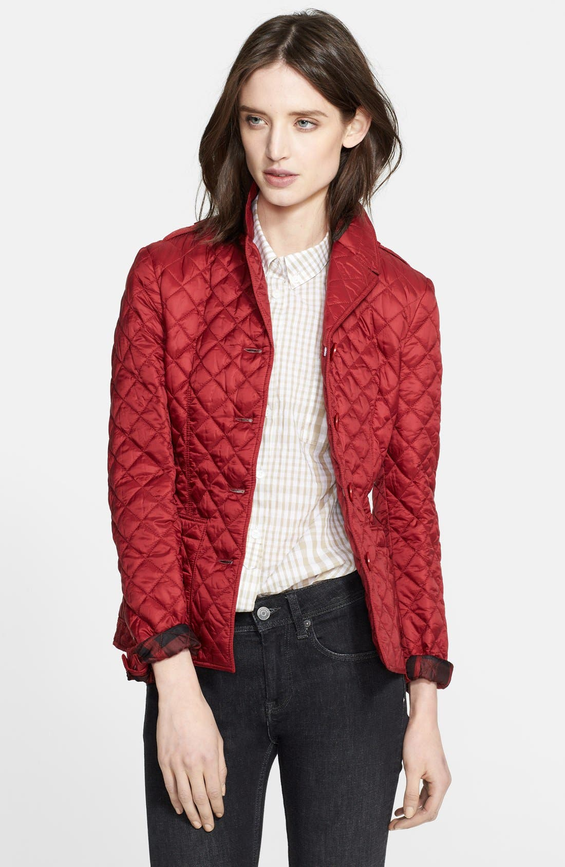 'Caulfield' Diamond Quilted Jacket, Main, color, 601