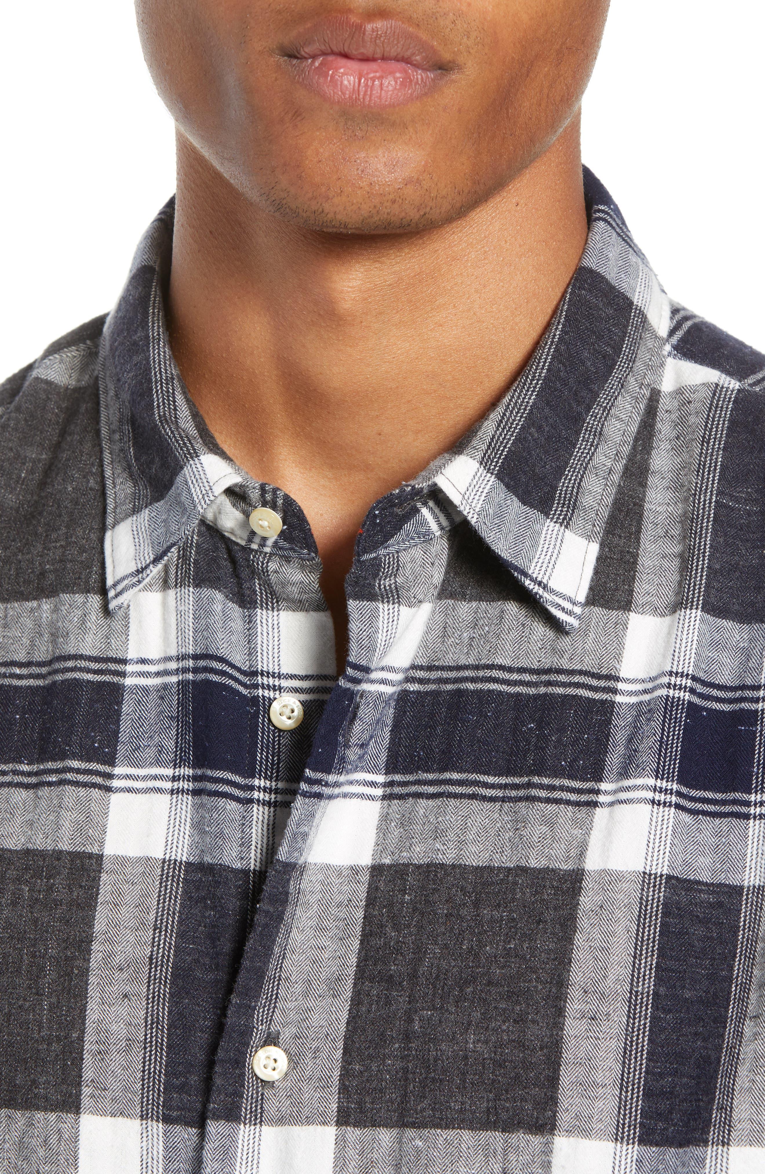Herringbone Plaid Shirt,                             Alternate thumbnail 2, color,                             COMBO F