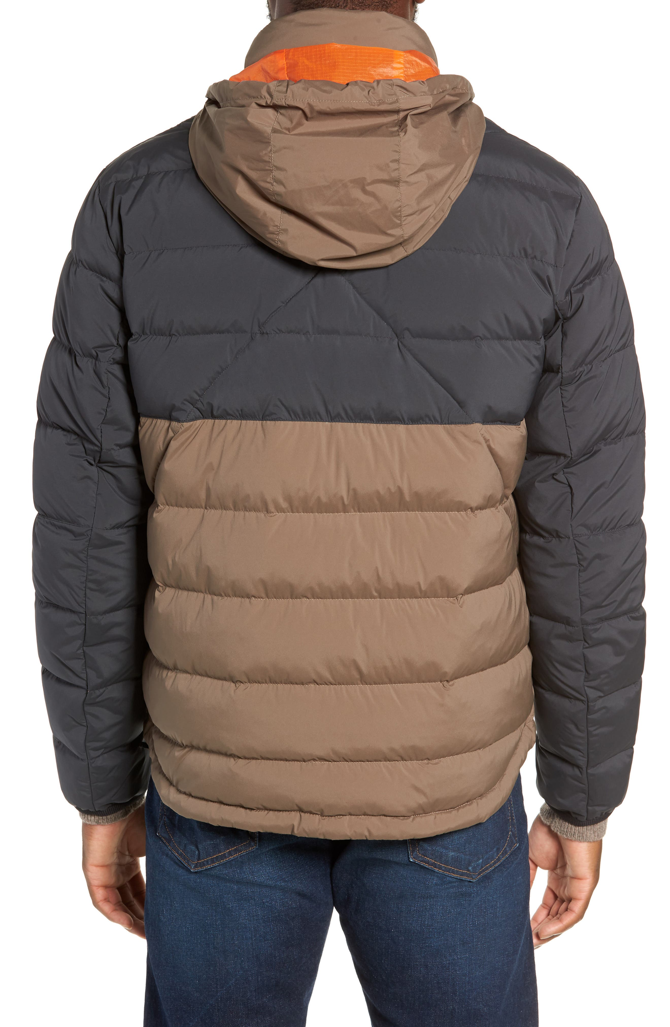 Regular Fit Wes Packable Down Jacket,                             Alternate thumbnail 2, color,                             BLACK/ ARMY