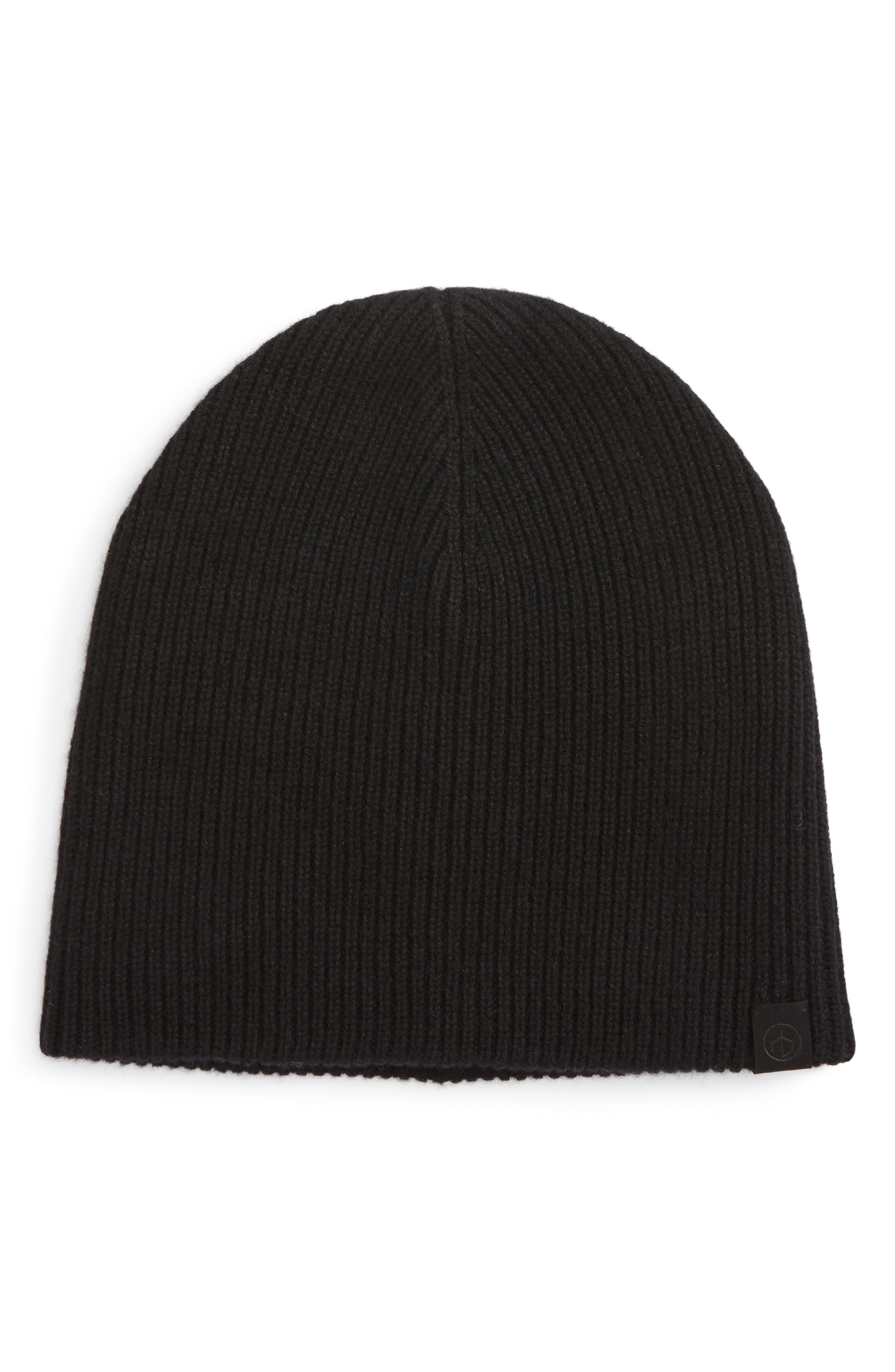 Ace Cashmere Knit Cap,                             Main thumbnail 1, color,                             001